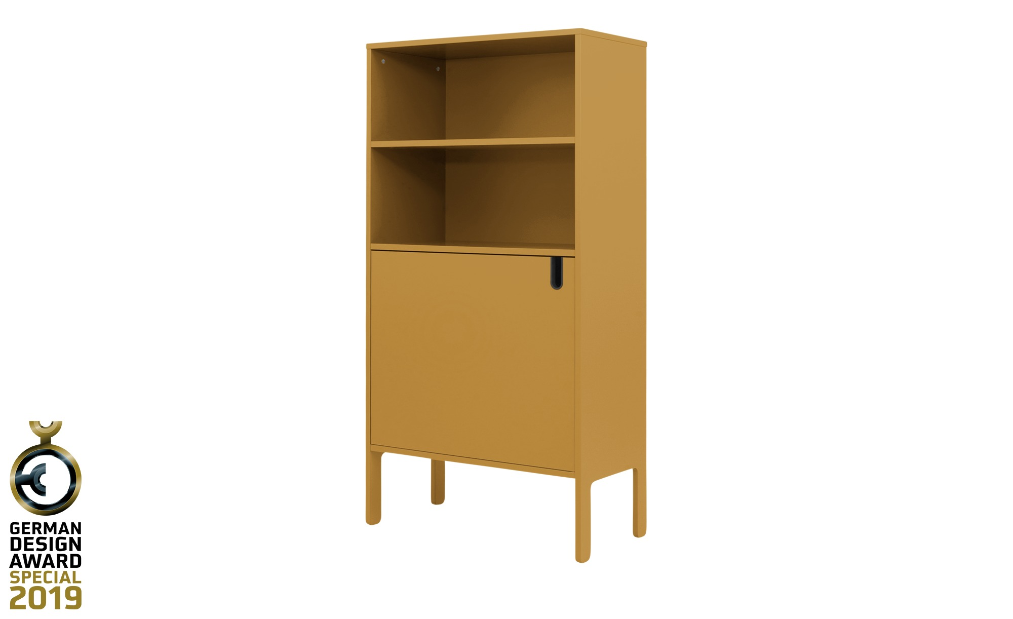 Highboard  Uno ¦ gelb ¦ Maße (cm): B: 76 H: 152 T: 40 Kommoden & Sideboards > Kommoden - Höffner