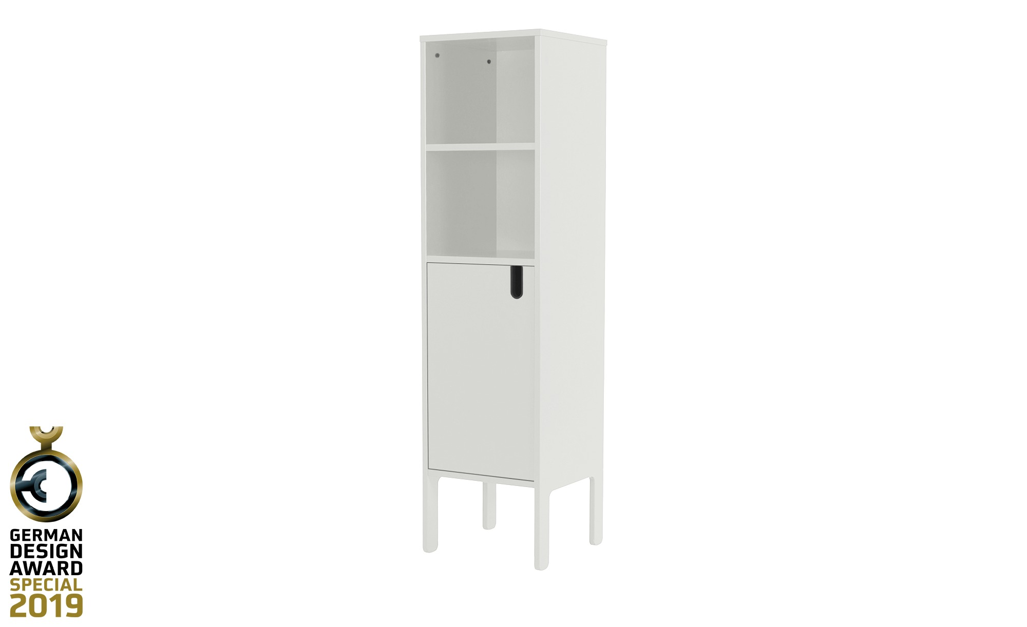 Highboard  Uno ¦ weiß ¦ Maße (cm): B: 40 H: 152 T: 40 Kommoden & Sideboards > Kommoden - Höffner