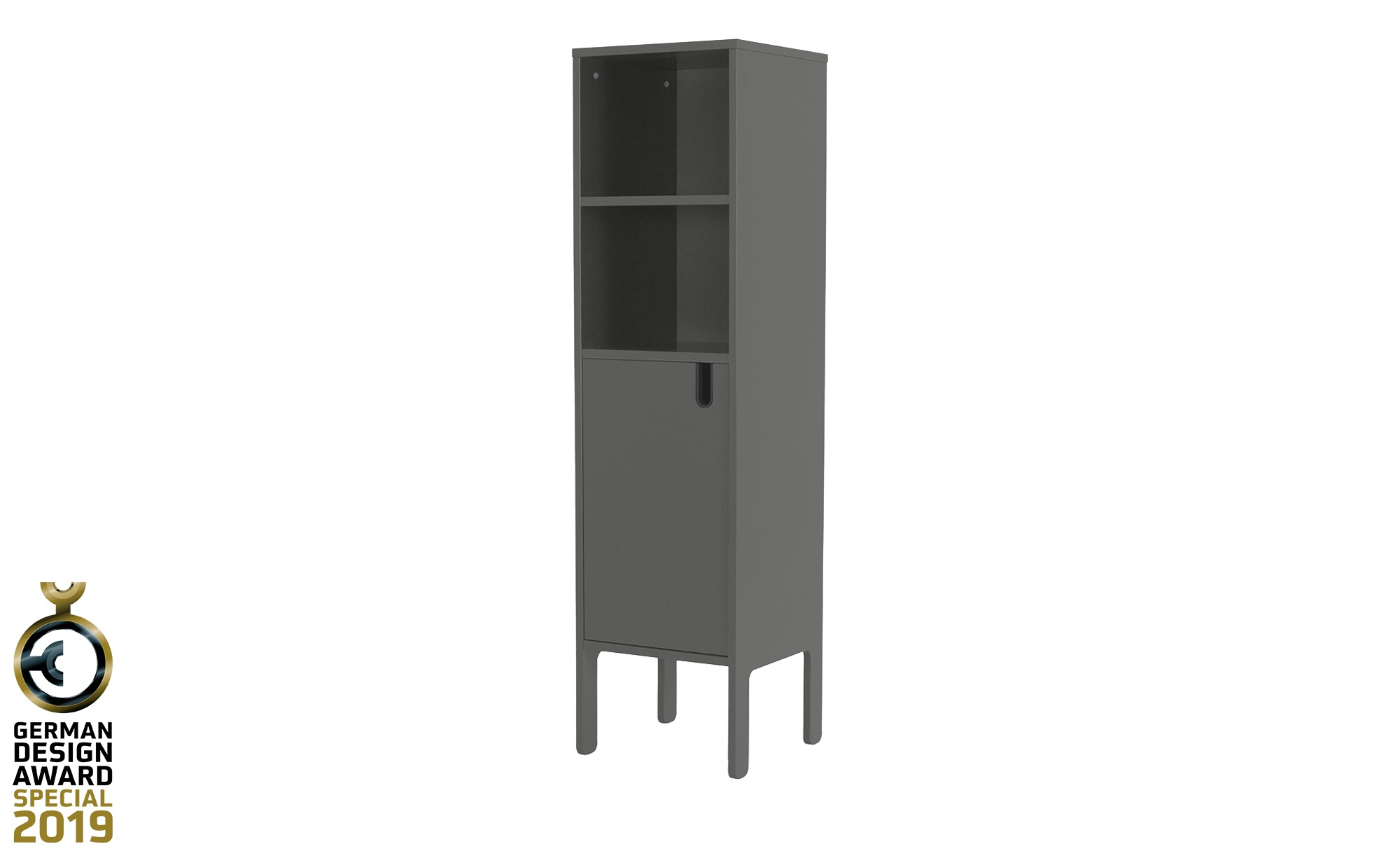 Highboard  Uno ¦ grau ¦ Maße (cm): B: 40 H: 152 T: 40 Kommoden & Sideboards > Kommoden - Höffner