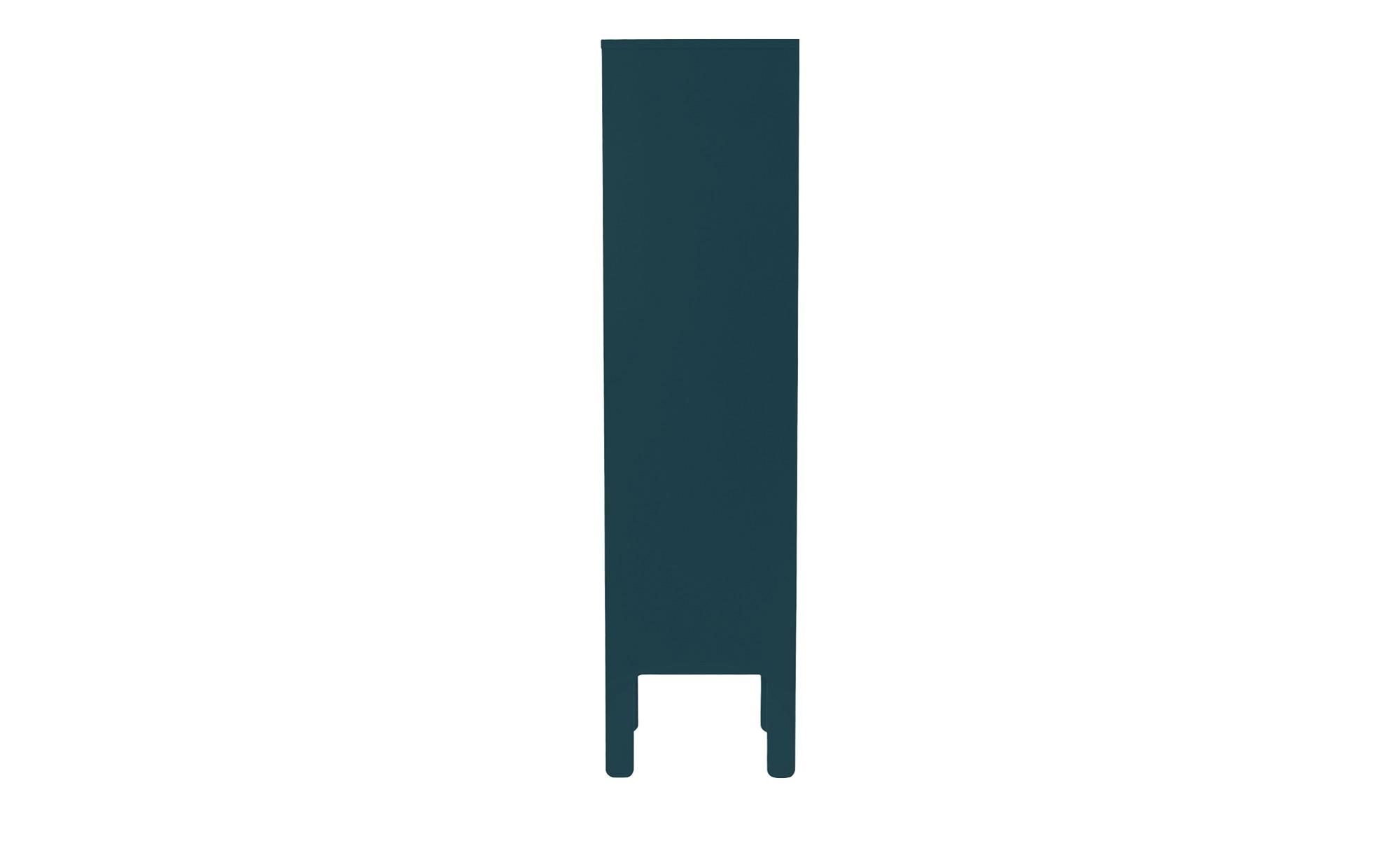 Highboard  Uno ¦ türkis/petrol ¦ Maße (cm): B: 40 H: 152 T: 40 Kommoden & Sideboards > Kommoden - Höffner