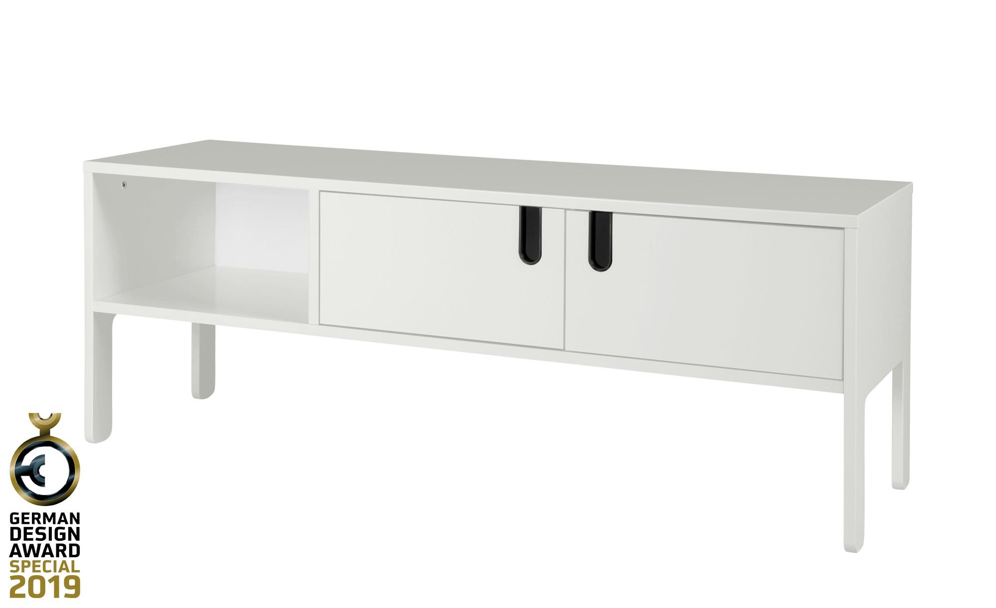 TV-Lowboard  Uno ¦ weiß ¦ Maße (cm): B: 137 H: 50 T: 40 TV- & Media Möbel > TV-Racks - Höffner