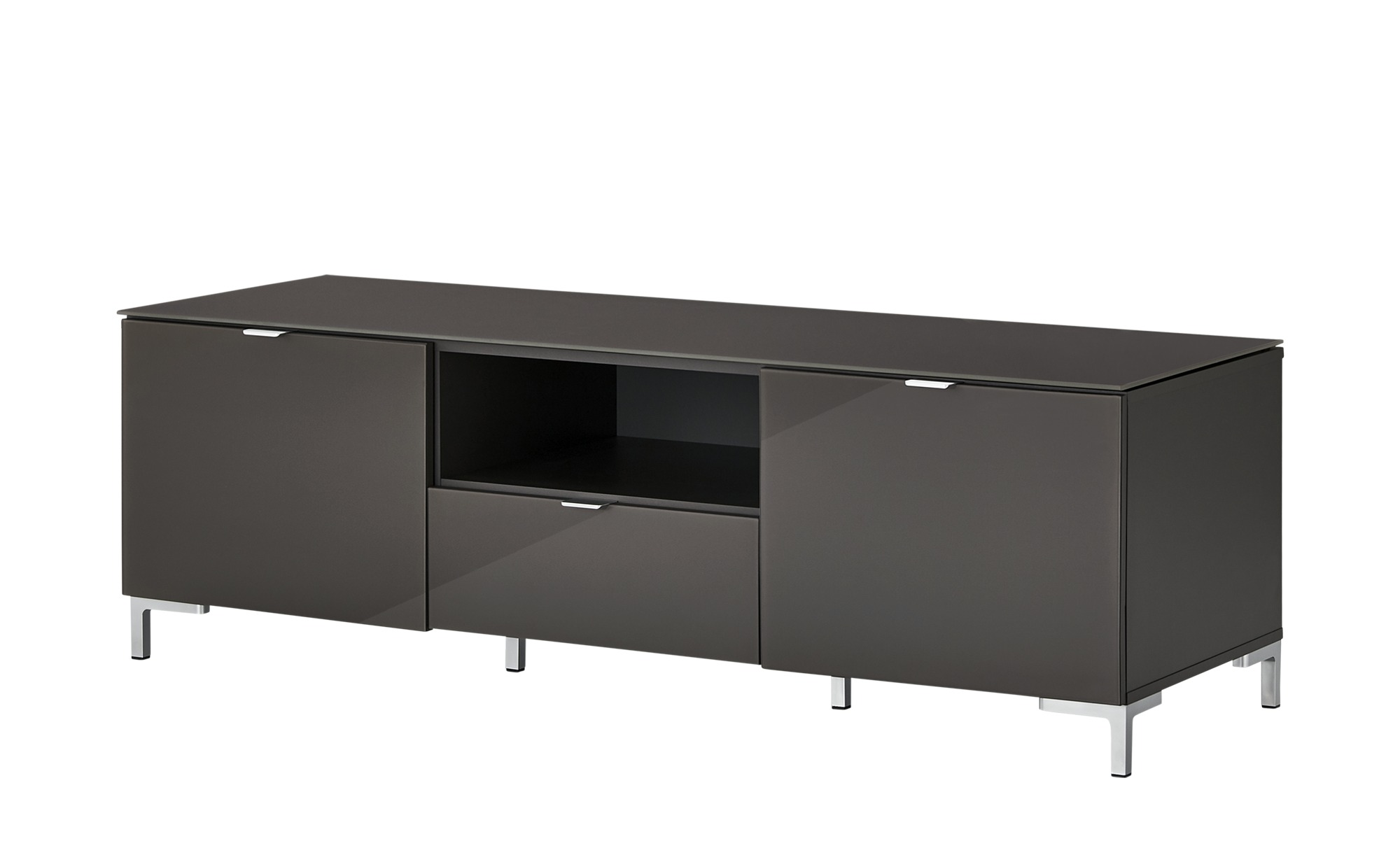 TV- Lowboard  Besano ¦ grau ¦ Maße (cm): B: 150 H: 48,5 T: 52,5 TV- & Media Möbel > TV-Racks - Höffner