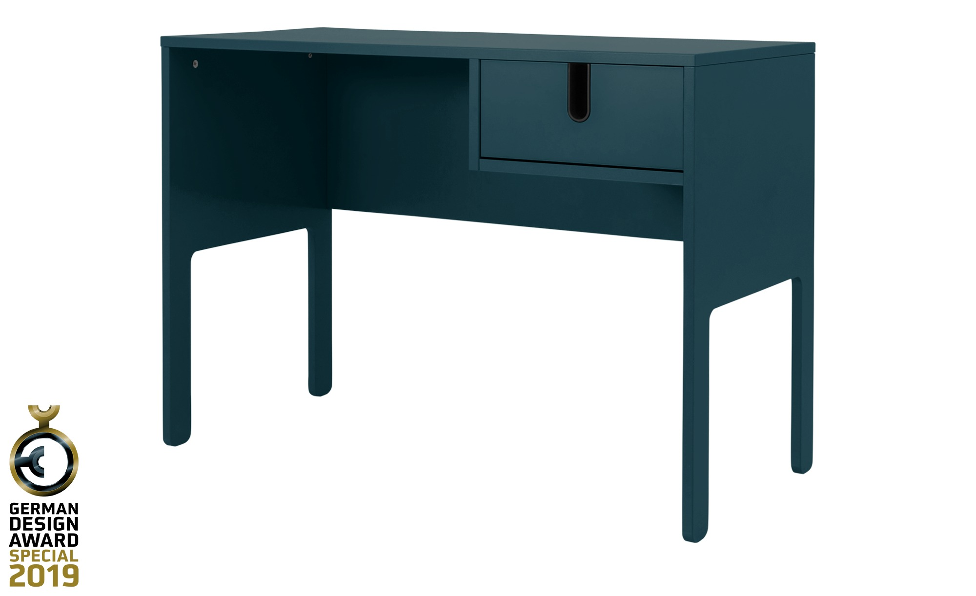 Schreibtisch  Uno ¦ blau ¦ Maße (cm): B: 105 H: 75 T: 50 Tische > Schreibtische - Höffner | Büro > Bürotische > Schreibtische | Blau | Holzwerkstoff - Lackiert | Möbel Höffner DE