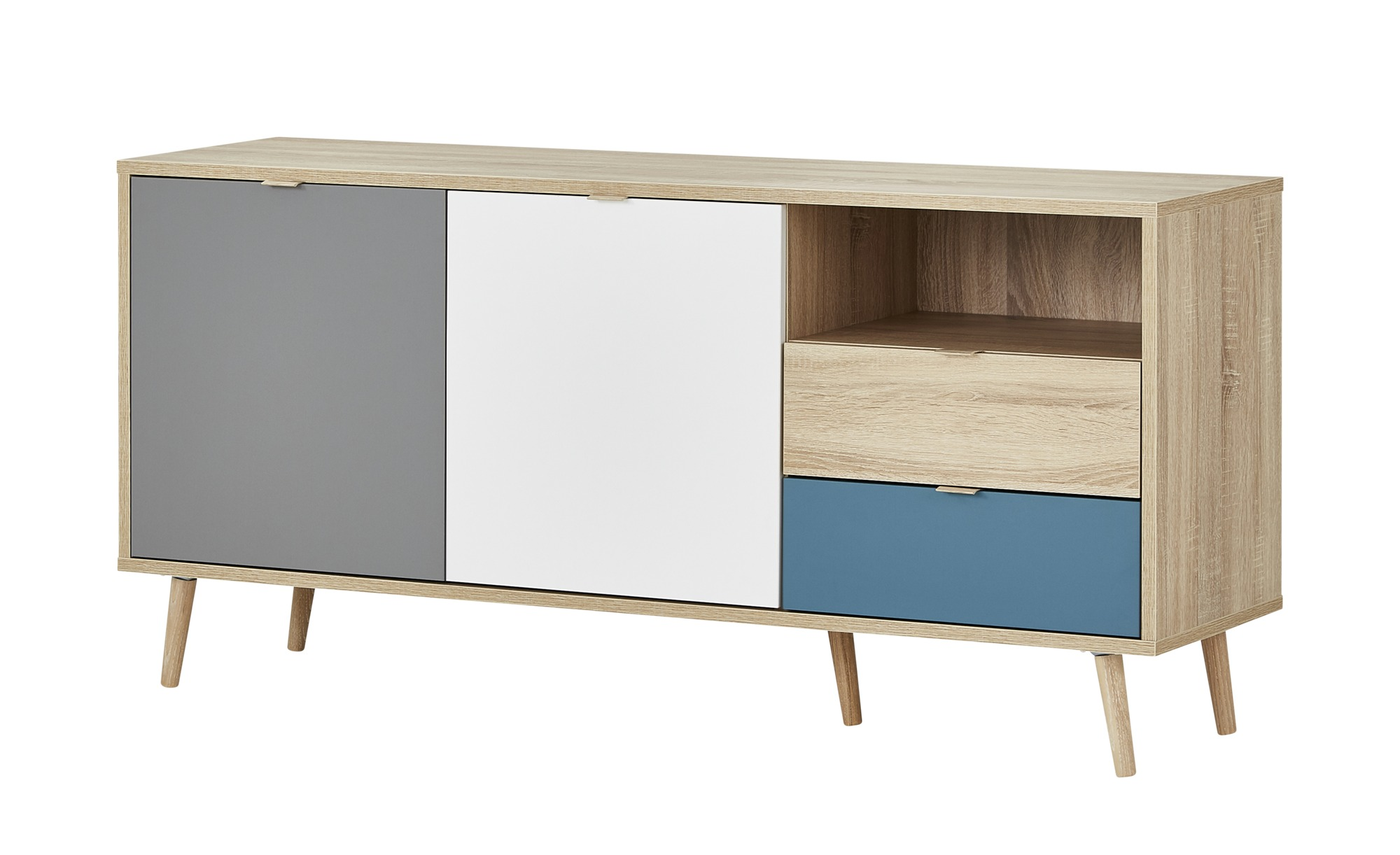 Sideboard  Cabia ¦ mehrfarbig ¦ Maße (cm): B: 150 H: 71 T: 40 Kommoden & Sideboards > Kommoden - Höffner