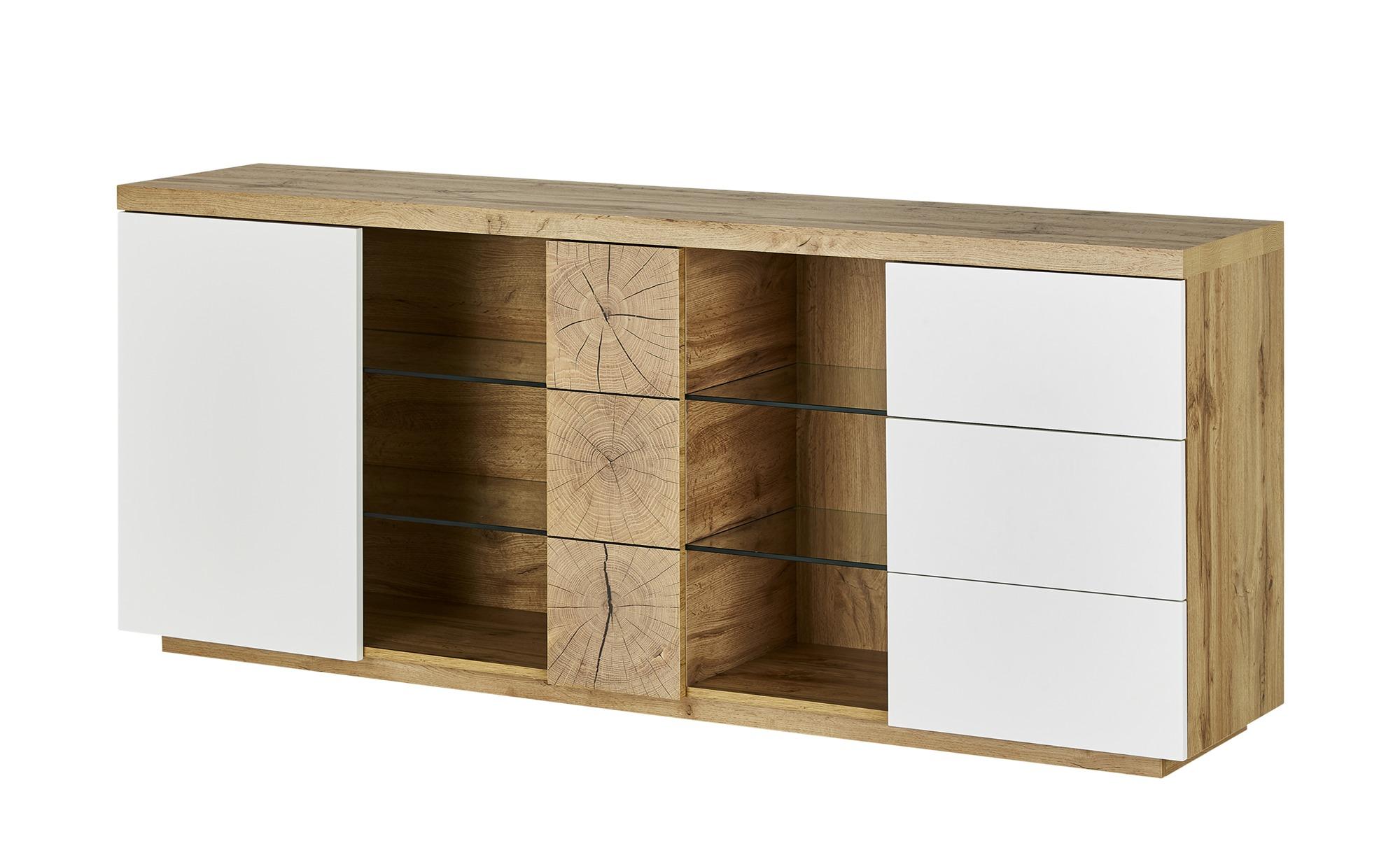 Sideboard  Hella ¦ weiß ¦ Maße (cm): B: 180 H: 75 T: 40 Kommoden & Sideboards > Sideboards - Höffner