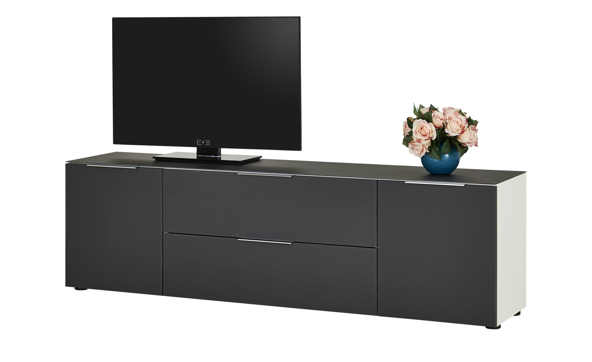 TV-Lowboard  Vitreo ¦ grau ¦ Maße (cm): B: 180,4 H: 53,9 T: 40 TV- & Media Möbel > TV-Racks - Höffner