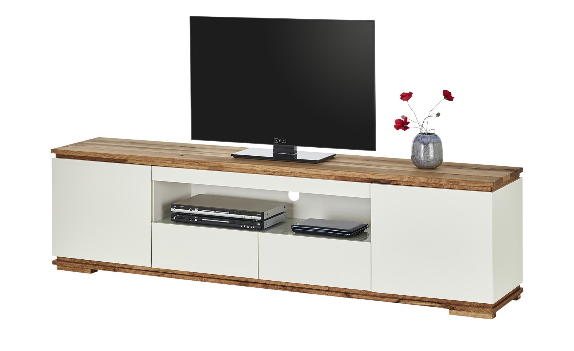 TV-Lowboard  Messina ¦ weiß ¦ Maße (cm): B: 202 H: 54 T: 40 TV- & Media Möbel > TV-Racks - Höffner