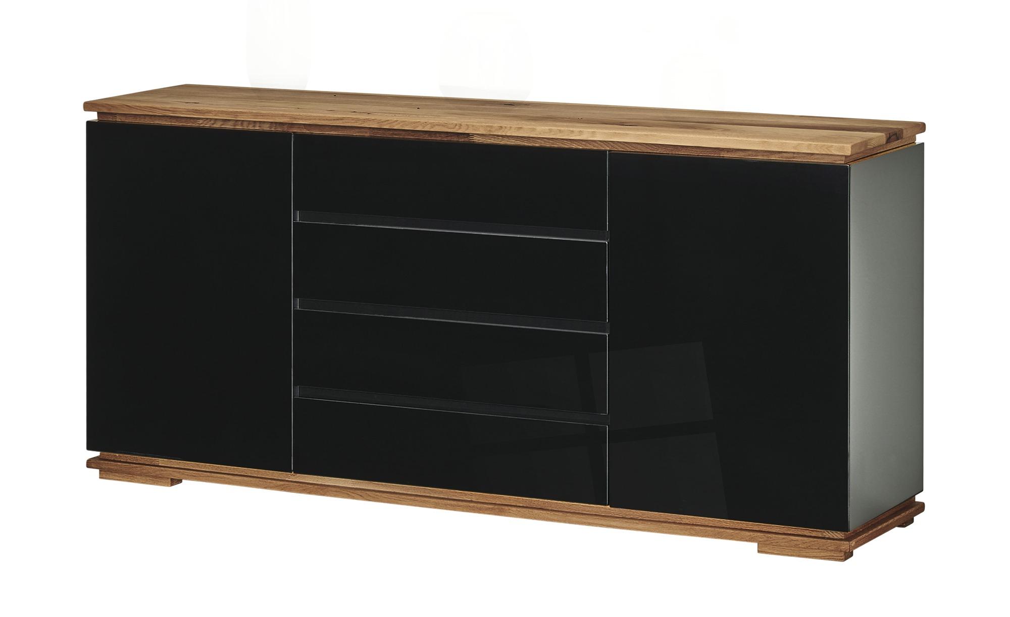Sideboard  Messina ¦ schwarz ¦ Maße (cm): B: 172 H: 81 T: 40 Kommoden & Sideboards > Sideboards - Höffner
