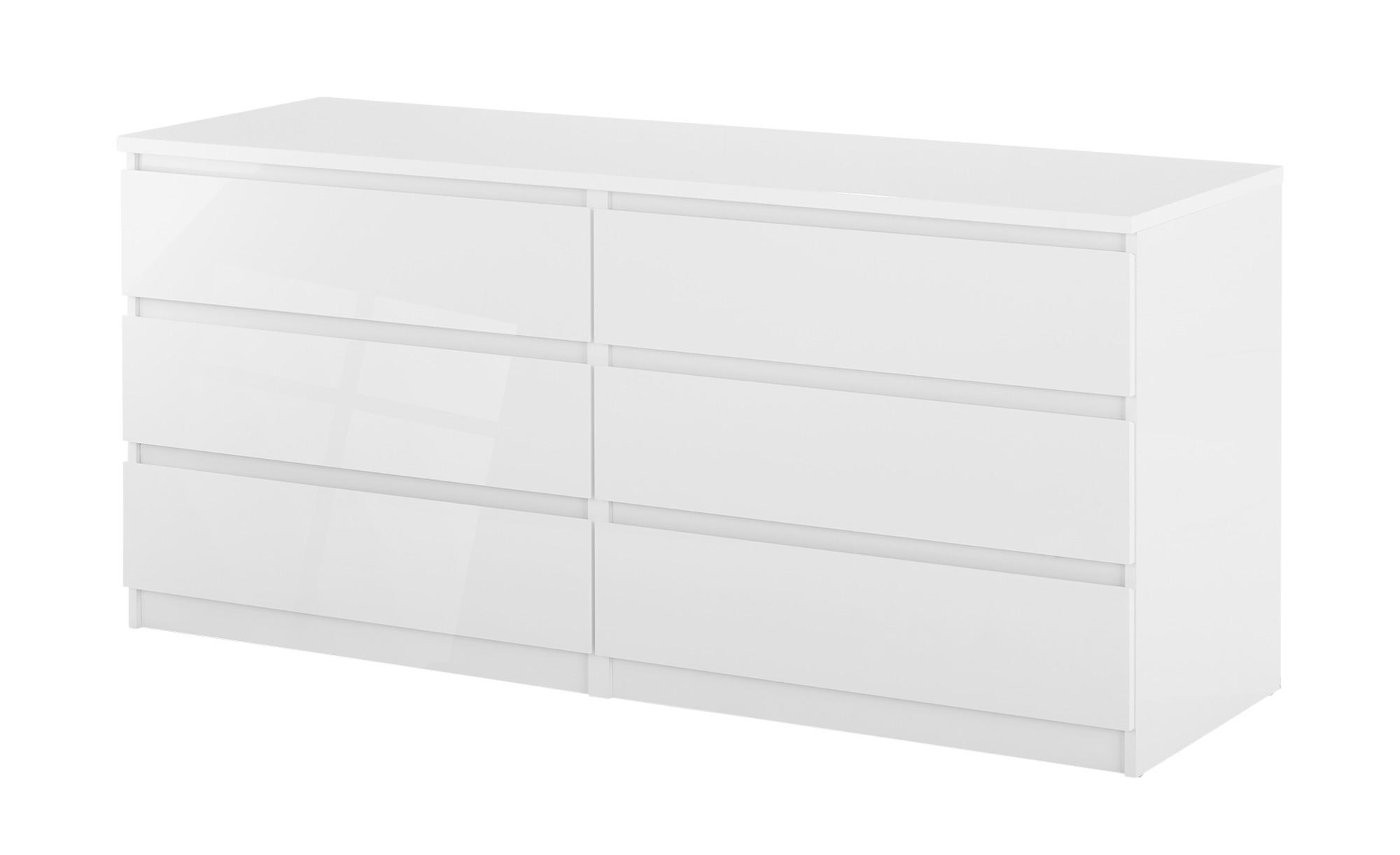 Sideboard mit 6 Schüben  Nardo ¦ weiß ¦ Maße (cm): B: 153,8 H: 70,1 T: 50 Kommoden & Sideboards > Kommoden - Höffner