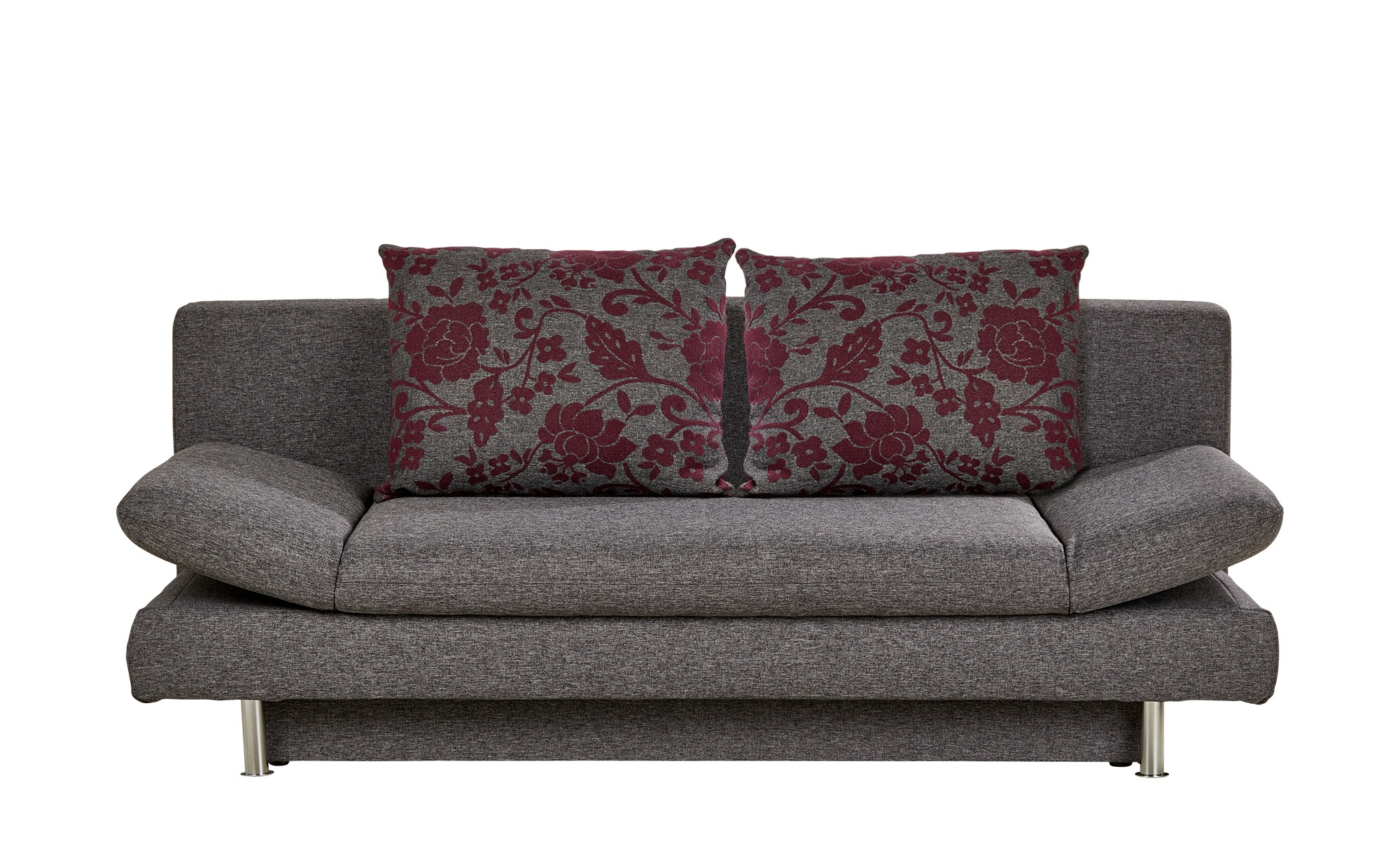Design-Schlafsofa grau - Webstoff Olivia ¦ grau ¦ Maße (cm): B: 195 H: 87 T: 93 Polstermöbel > Sofas > 2-Sitzer - Höffner