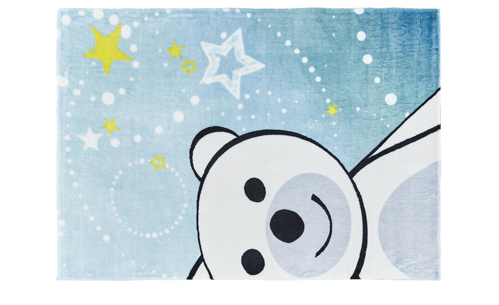 Kinderteppich ¦ blau ¦ Rückseite: Baumwolle , 100% Soft Polyester  ¦ Maße (cm): B: 90 Teppiche > Kinderteppiche - Höffner