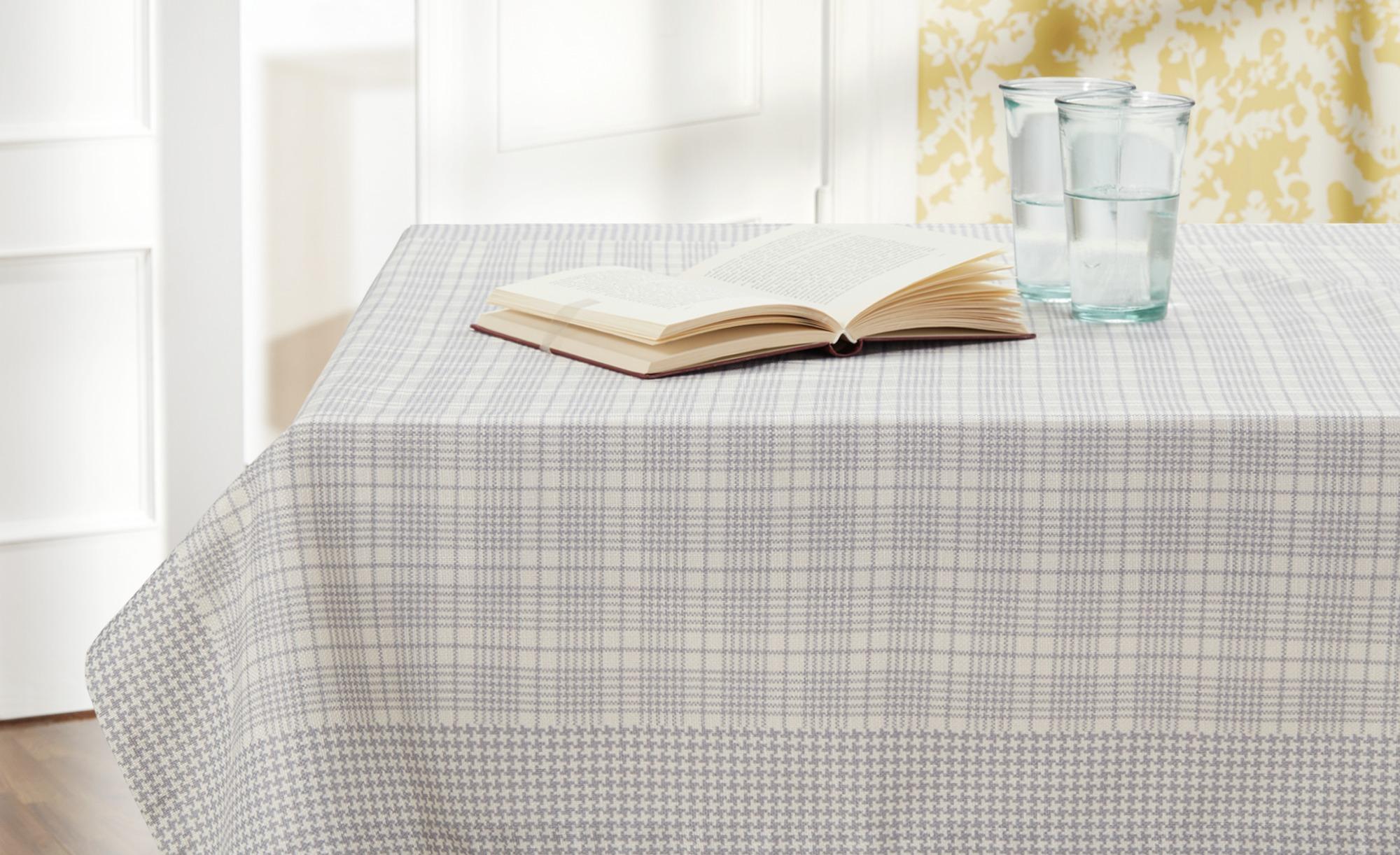 #HOME STORY Mitteldecke  Tweed Me ¦ grau ¦ 100% Polyester ¦ Maße (cm): B: 95 Heimtextilien > Tischwäsche > Tischdecken – Höffner#