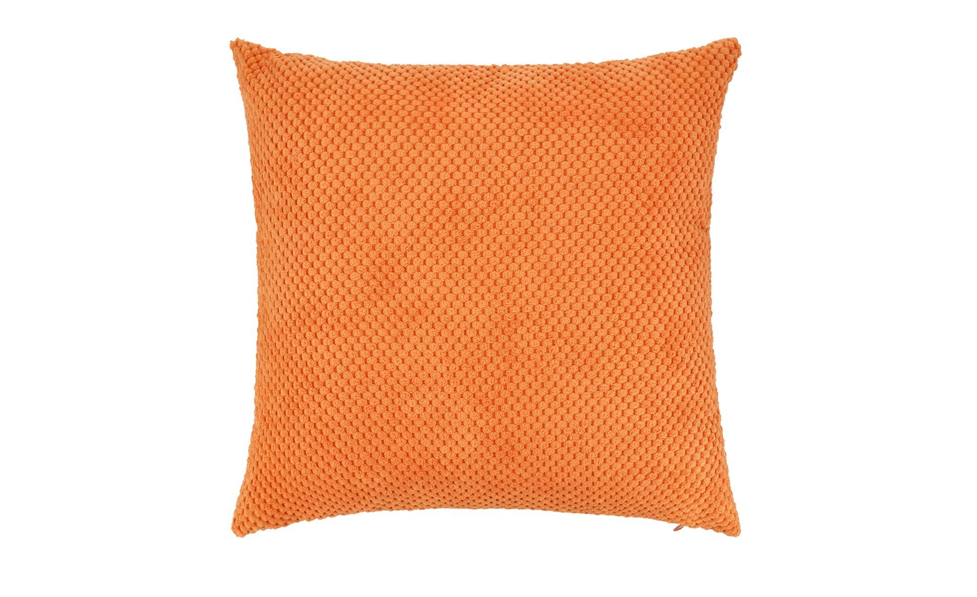 HOME STORY Kissen  Lisa ¦ orange ¦ 100% Polyester, 250gr. ¦ Maße (cm): B: 40 Heimtextilien > Kissen > Dekokissen - Höffner
