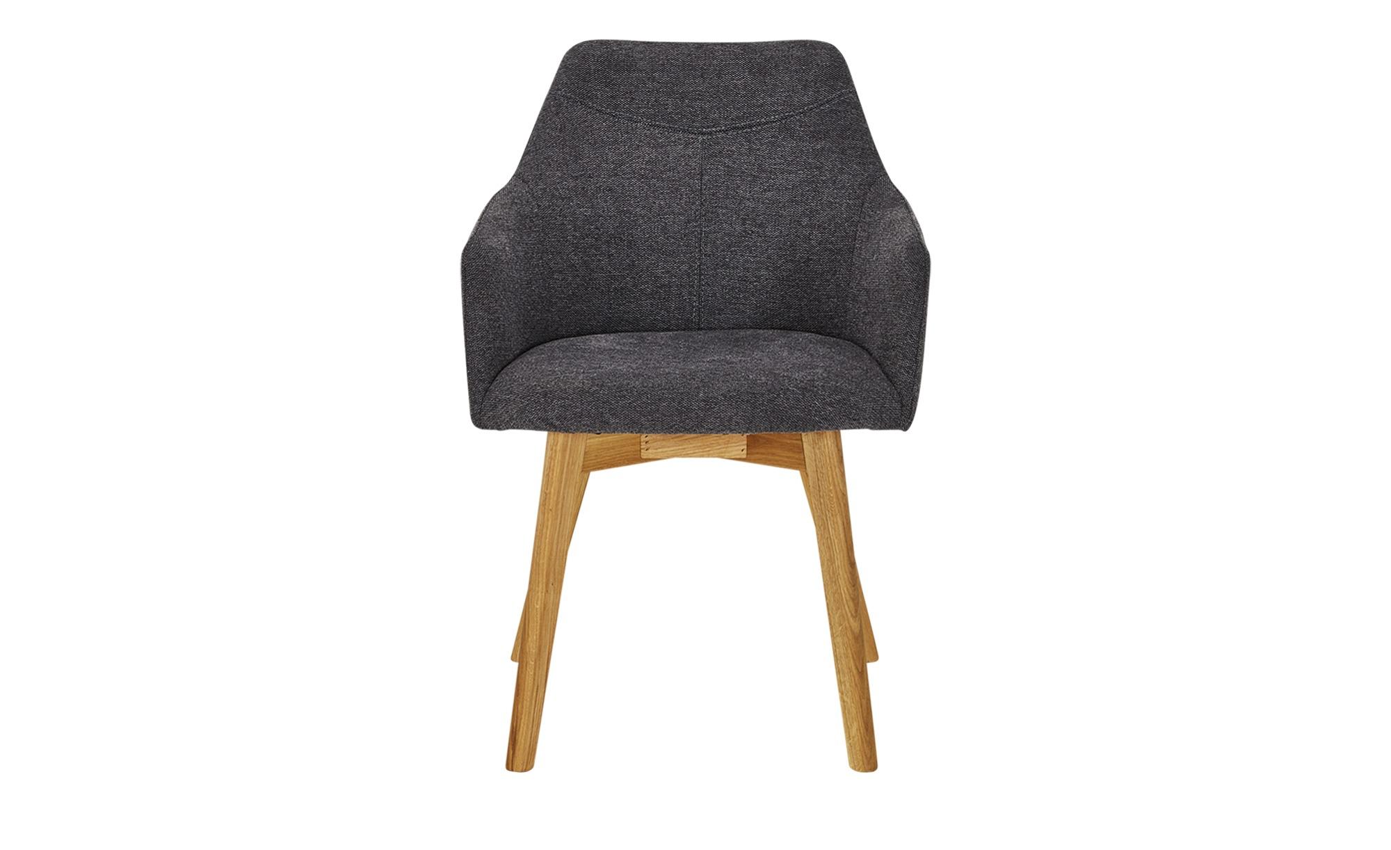 Woodford Sessel  Muron ¦ grau ¦ Maße (cm): B: 57 H: 84 T: 57 Stühle > Esszimmerstühle > Esszimmerstühle mit Armlehnen - Höffner