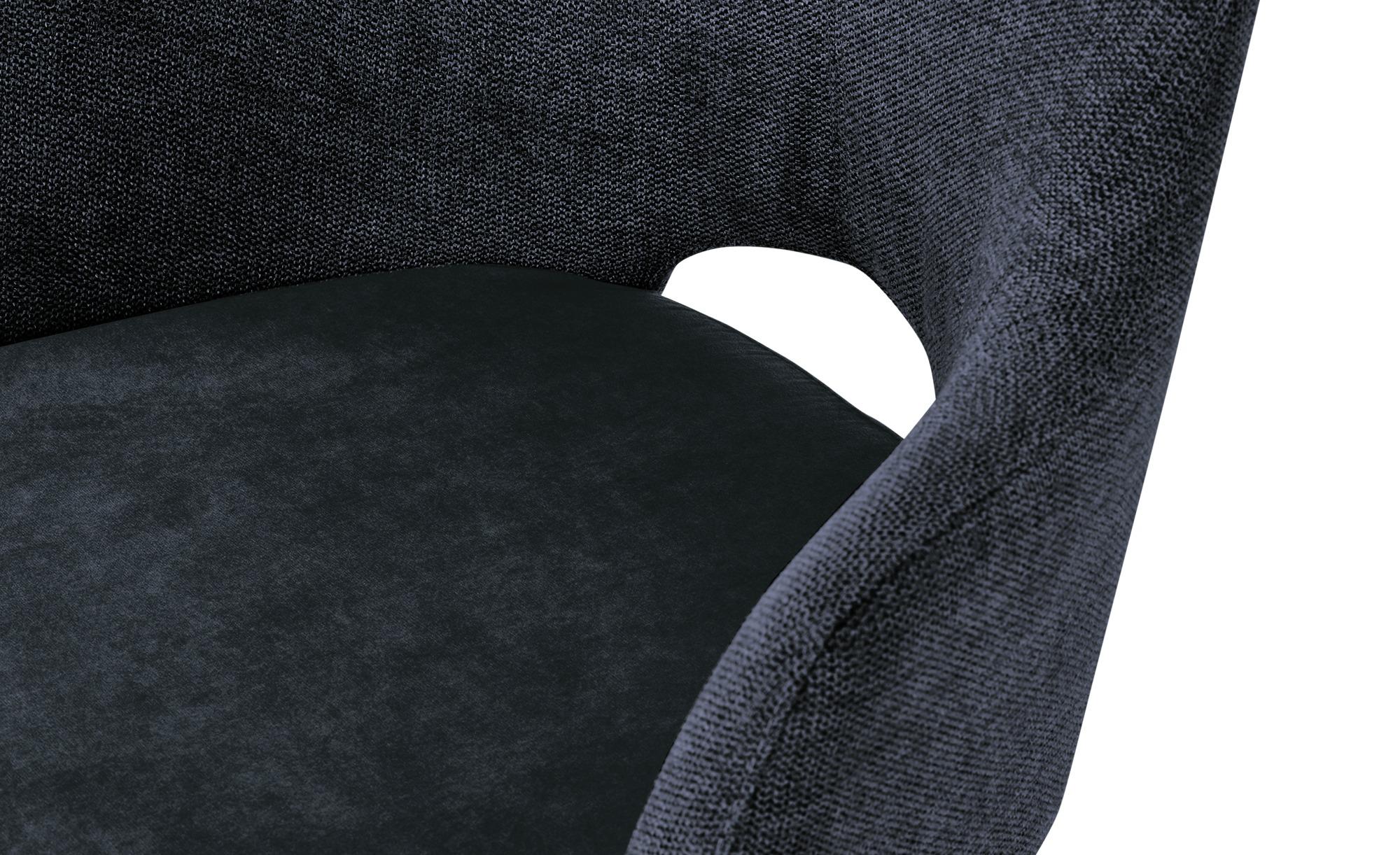 Woodford Sessel  Moreda ¦ blau ¦ Maße (cm): B: 58 H: 82 T: 60 Stühle > Esszimmerstühle > Esszimmerstühle mit Armlehnen - Höffner