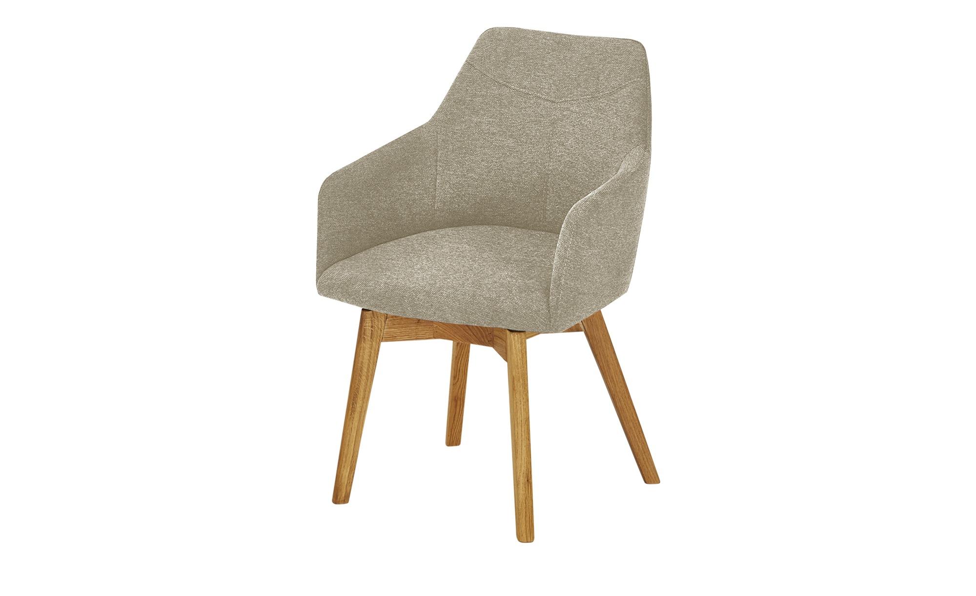 Woodford Sessel  Muron ¦ beige ¦ Maße (cm): B: 57 H: 84 T: 57 Stühle > Esszimmerstühle > Esszimmerstühle mit Armlehnen - Höffner