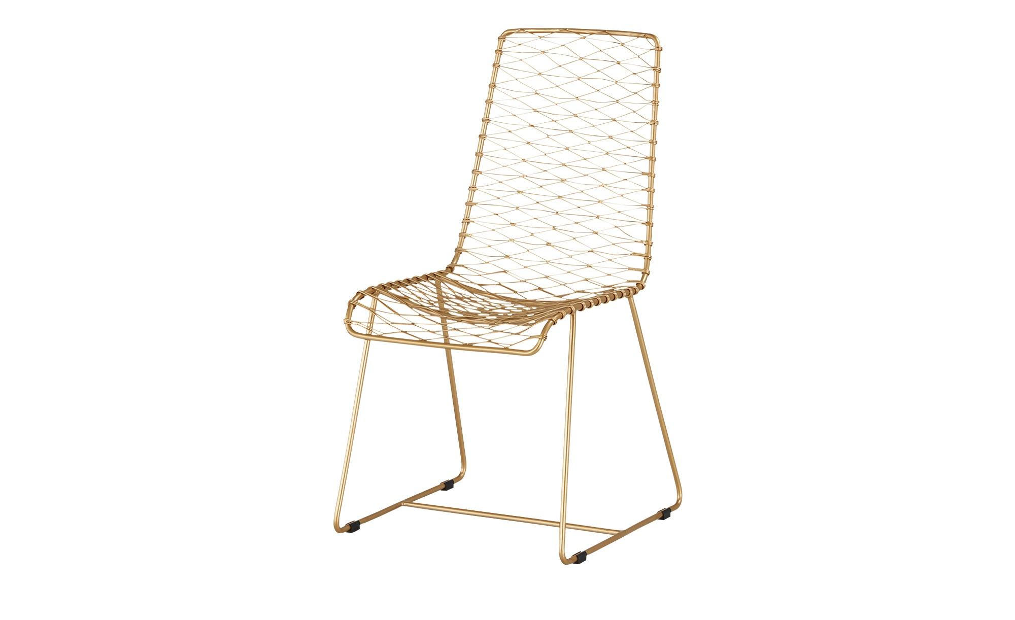 Stuhl mit filigranem Geflecht