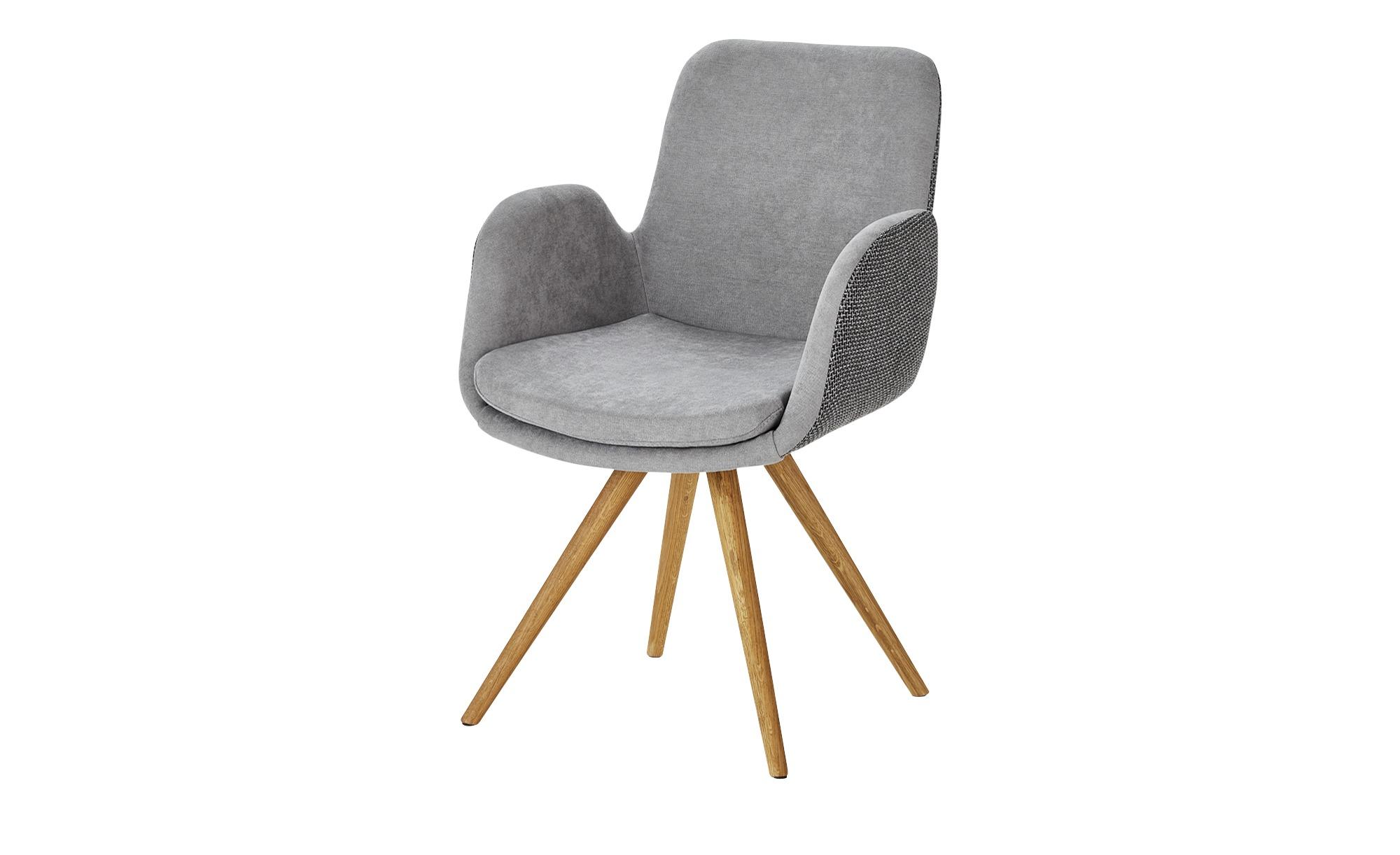 smart Schalenstuhl  Malmo ¦ grau Stühle > Esszimmerstühle > Esszimmerstühle mit Armlehnen - Höffner