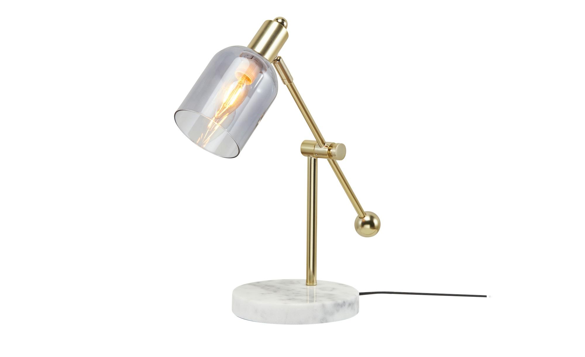 Playboy Schreibtischleuchte  Amber ¦ gold ¦ Maße (cm): B: 17 H: 42 T: 39 Lampen & Leuchten > Innenleuchten > Stehlampen - Höffner