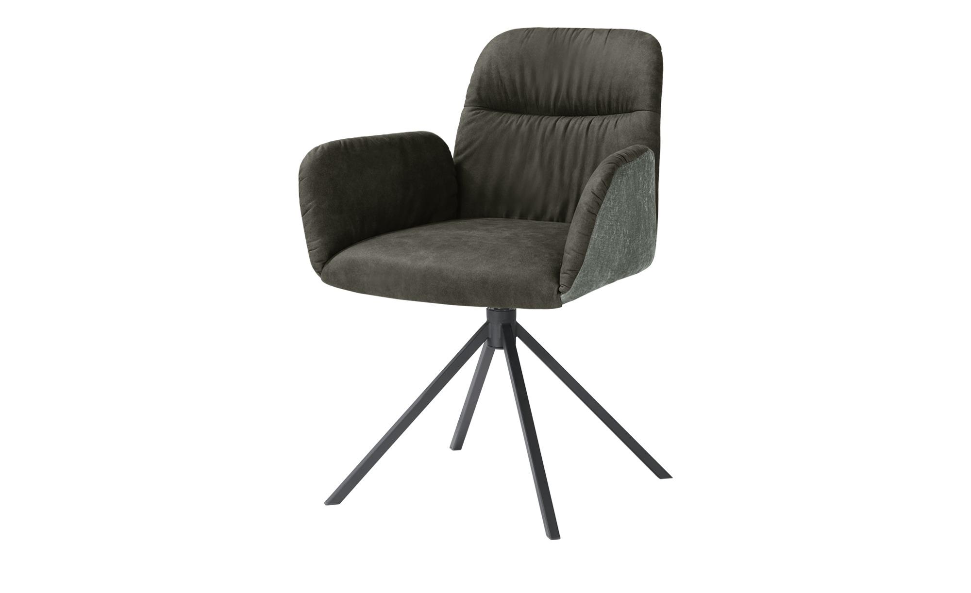 uno Polster-Armlehnstuhl  Sevan ¦ grau Stühle > Esszimmerstühle > Esszimmerstühle mit Armlehnen - Höffner