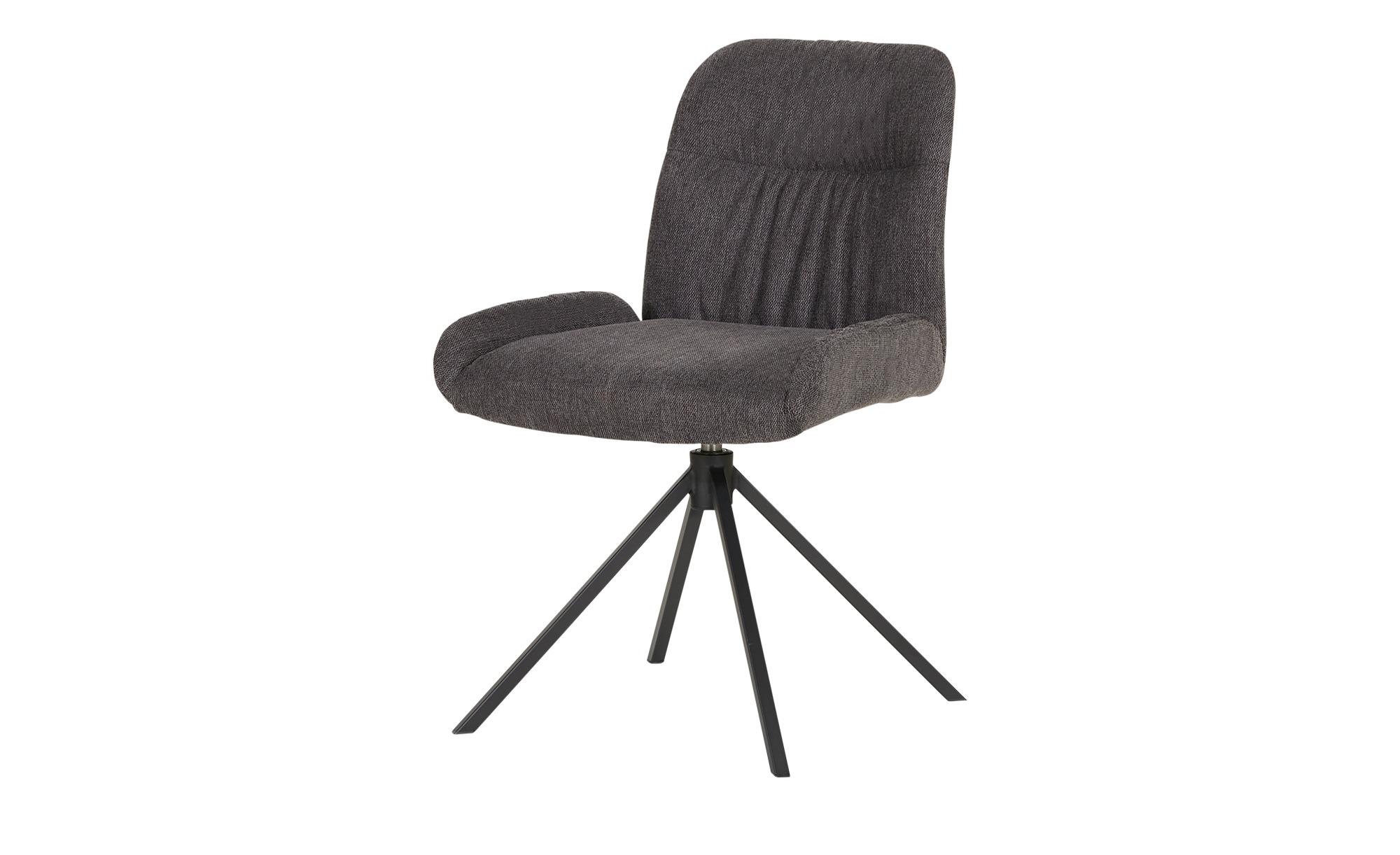 uno Polsterstuhl drehbar  Shanti ¦ grau Stühle > Küchenstühle > Küchenstühle mit Armlehnen - Höffner