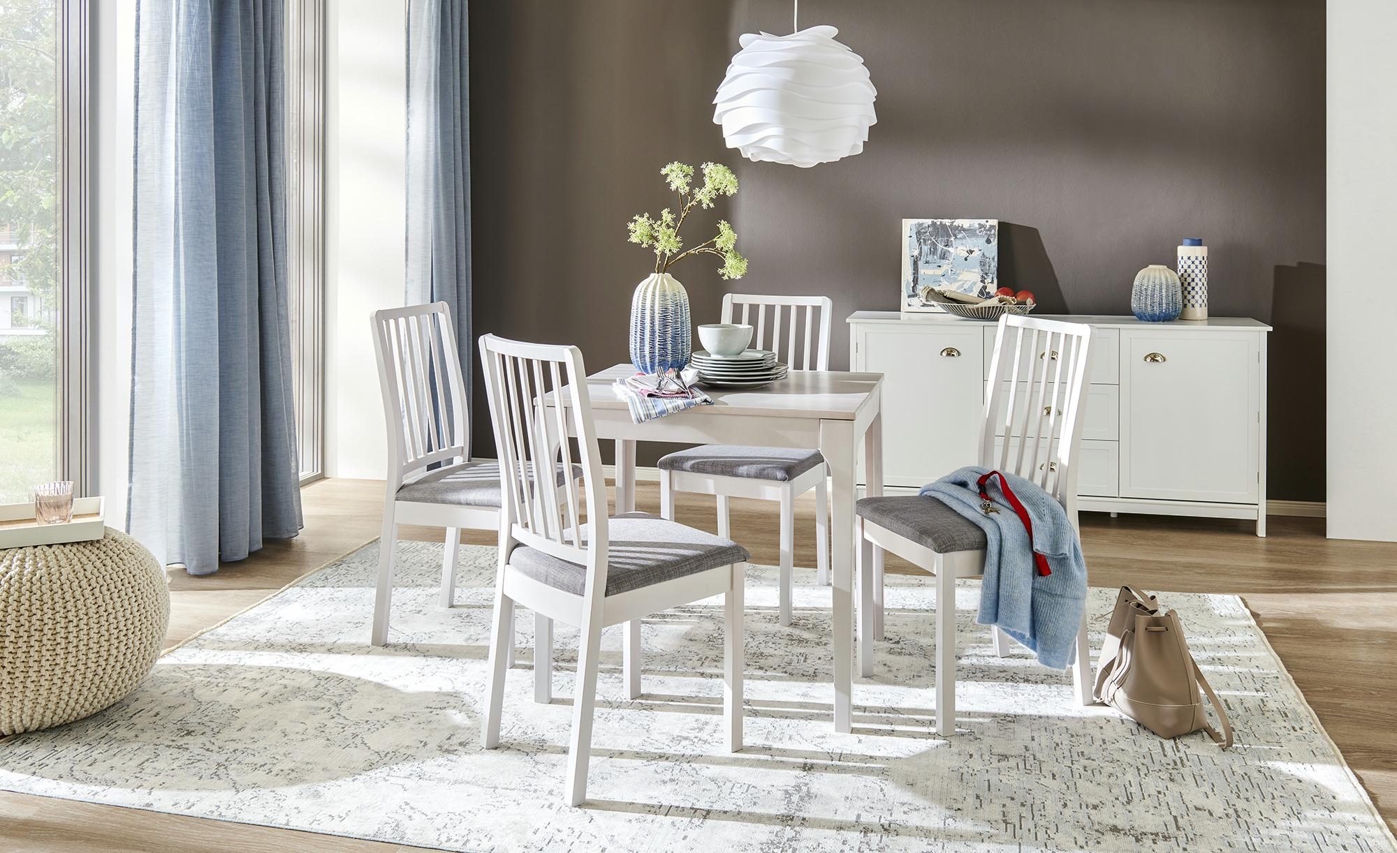 Stuhl  Magnus ¦ weiß Stühle > Küchenstühle > Küchenstühle mit Armlehnen - Höffner