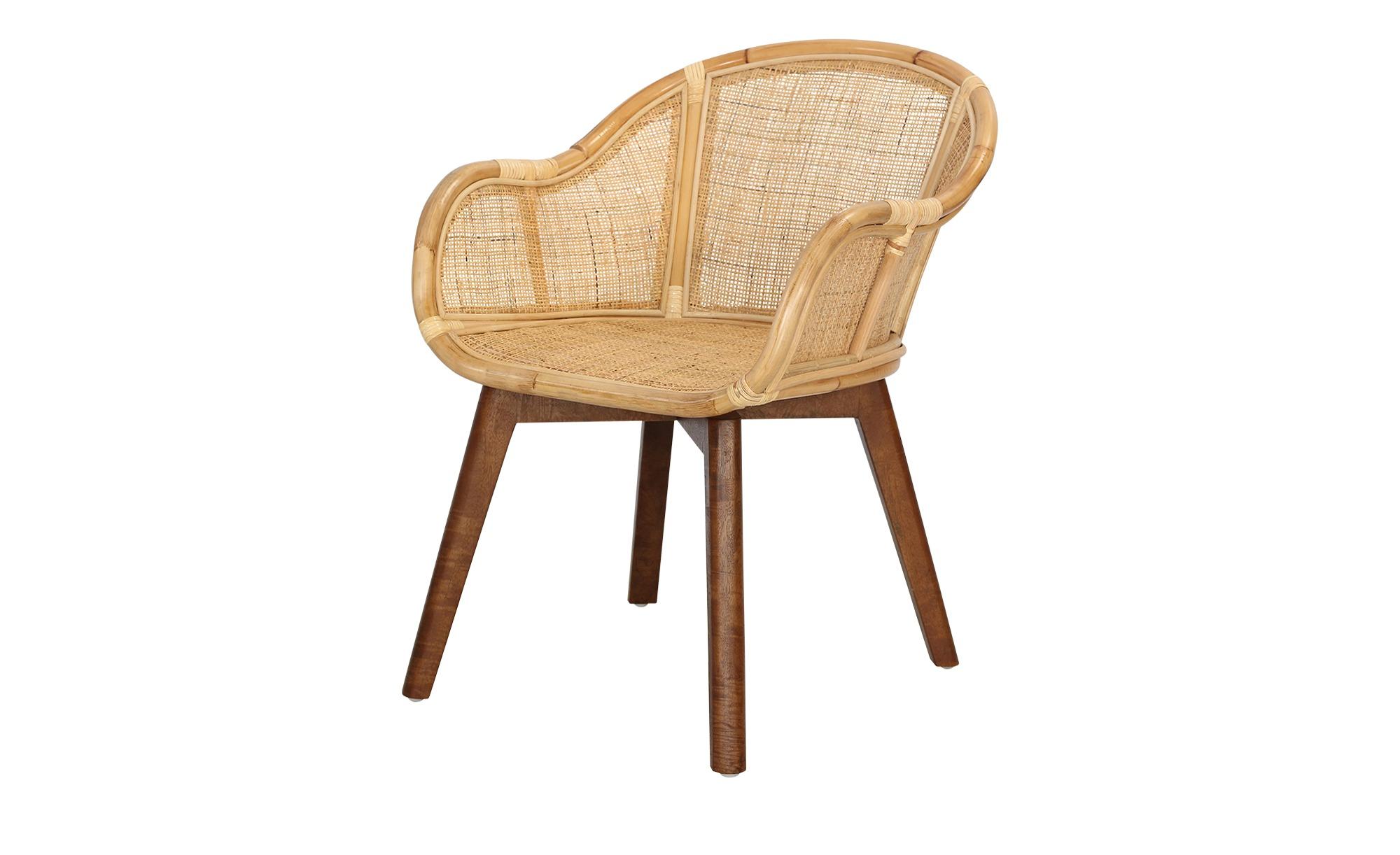 Rattanstuhl  Tweed Me ¦ holzfarben Stühle > Esszimmerstühle > Esszimmerstühle mit Armlehnen - Höffner