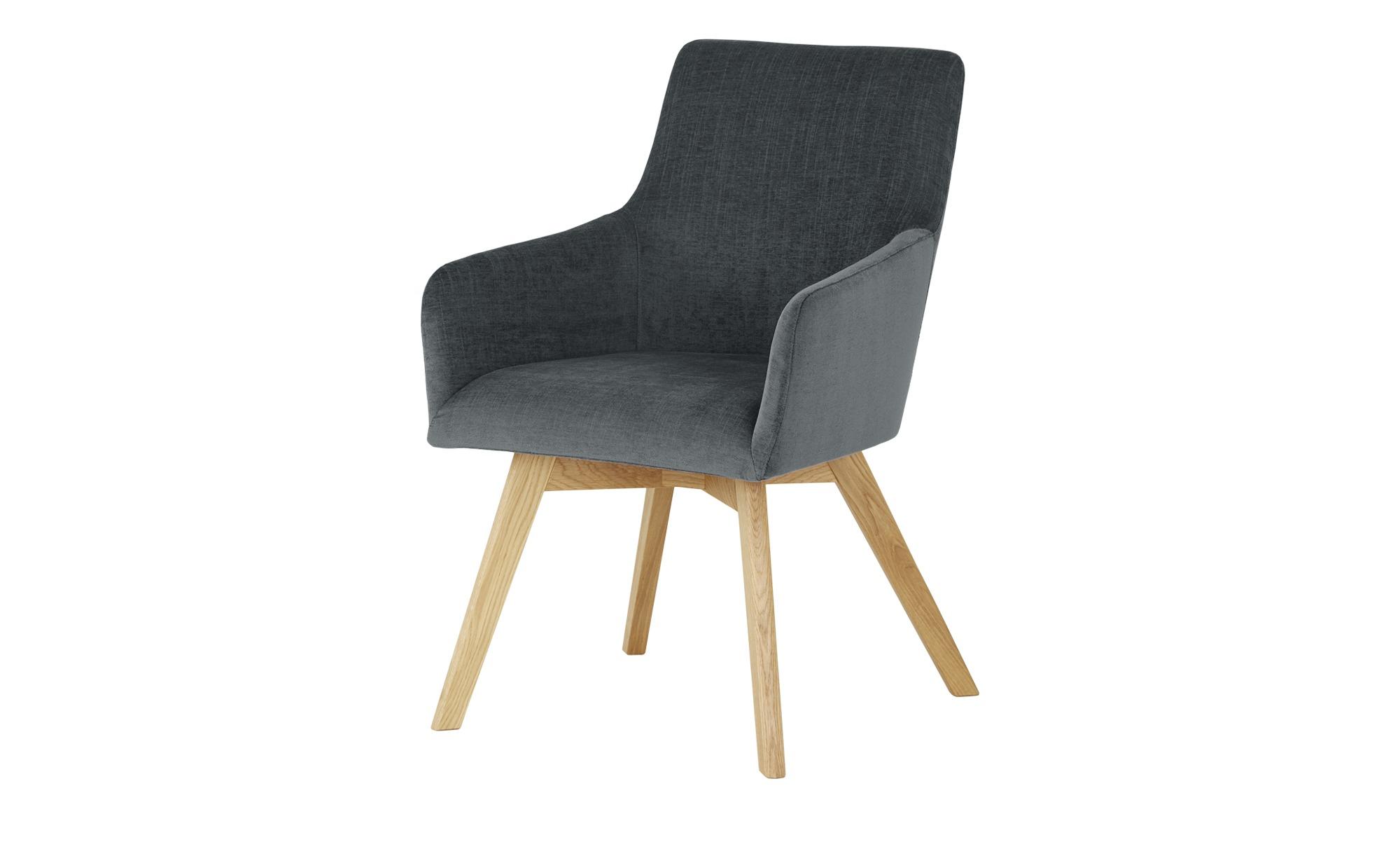 Wohnwert Armlehn-Polsterstuhl  Fina ¦ grau Stühle > Esszimmerstühle > Esszimmerstühle mit Armlehnen - Höffner