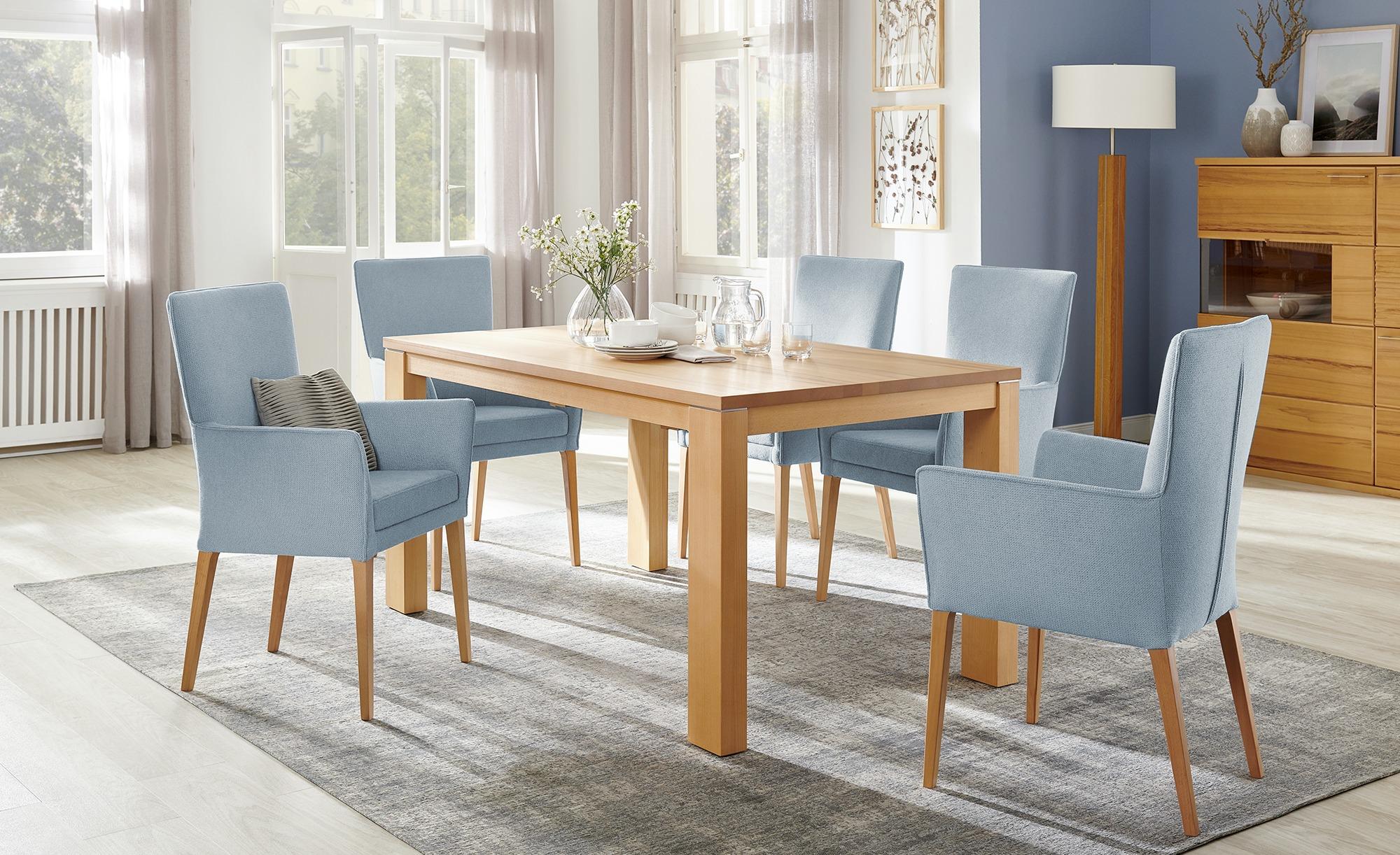 Wohnwert Armlehn-Polsterstuhl  Aron ¦ blau Stühle > Esszimmerstühle > Esszimmerstühle mit Armlehnen - Höffner