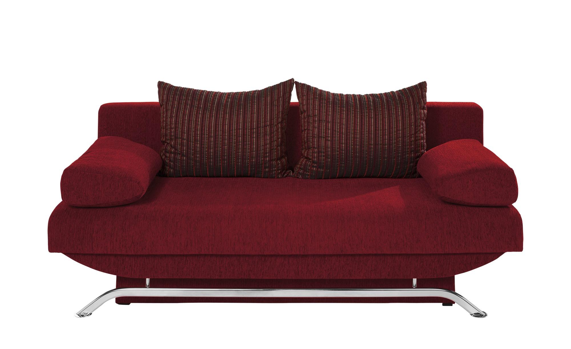 smart Schlafsofa rot - Mikrofaser Grit ¦ rot ¦ Maße (cm): B: 195 H: 76 T: 91 Polstermöbel > Sofas > Einzelsofas - Höffner