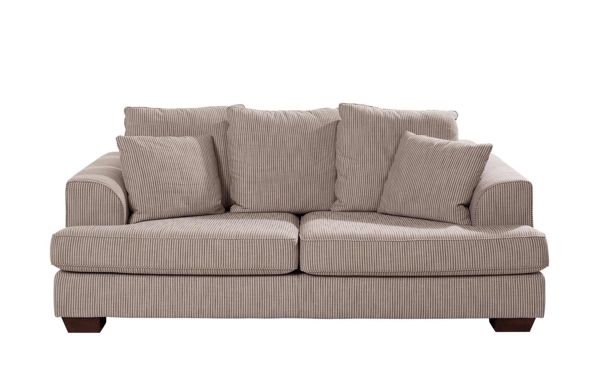 SOHO Loungesofa braun - Webstoff Franka ¦ beige ¦ Maße (cm): B: 199 H: 87 T: 103 Polstermöbel > Sofas > Einzelsofas - Höffner