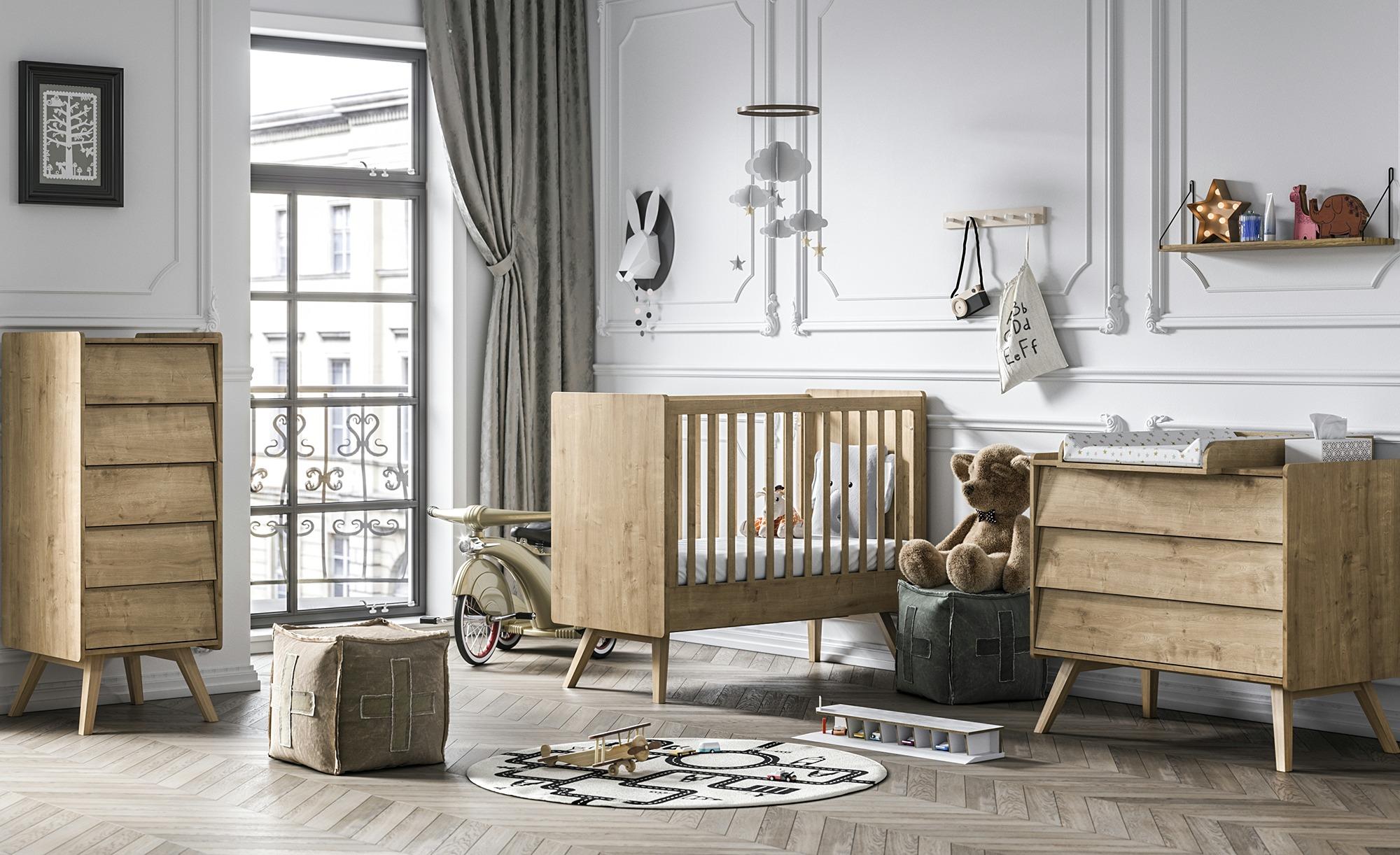 Babyzimmer-Set im Vintage-Look