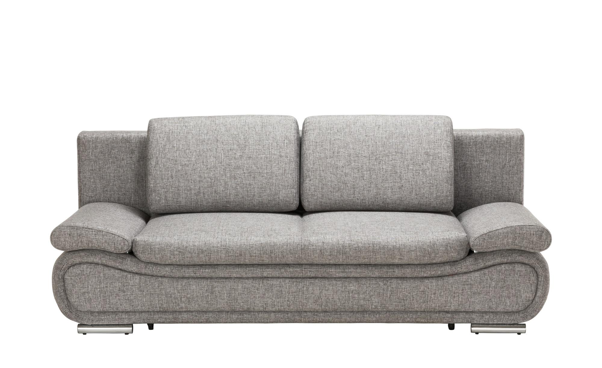Design-Schlafcouch grau-schwarz - Mikrofaser Verena ¦ grau ¦ Maße (cm): B: 210 H: 84 T: 90 Polstermöbel > Sofas > 2-Sitzer - Höffner