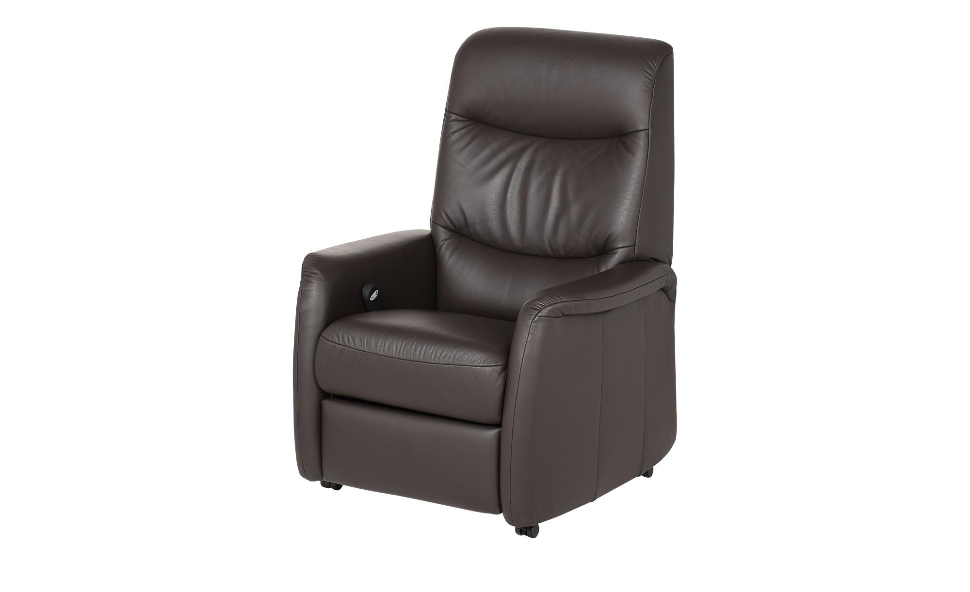 Hukla Fernsehsessel mit elektrischer Relaxfunktion  Fenja ¦ braun ¦ Maße (cm): B: 78 H: 104 T: 87 Polstermöbel > Sessel > Ledersessel - Höffner