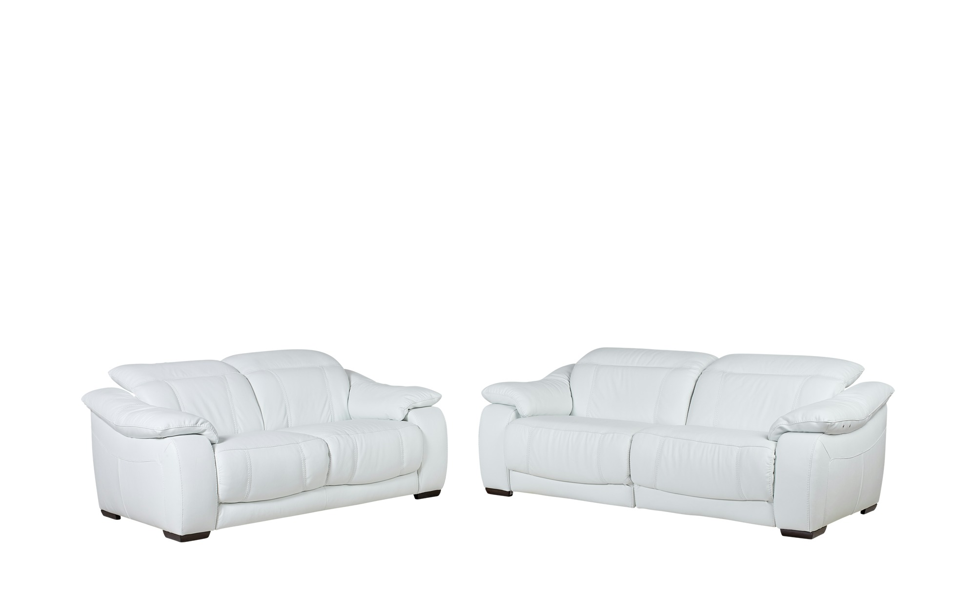 Leder-Sitzgruppe mit elektrischer Funktion weiß - Leder Unika ¦ weiß Polstermöbel > Sofas > Sitzgruppen - Höffner