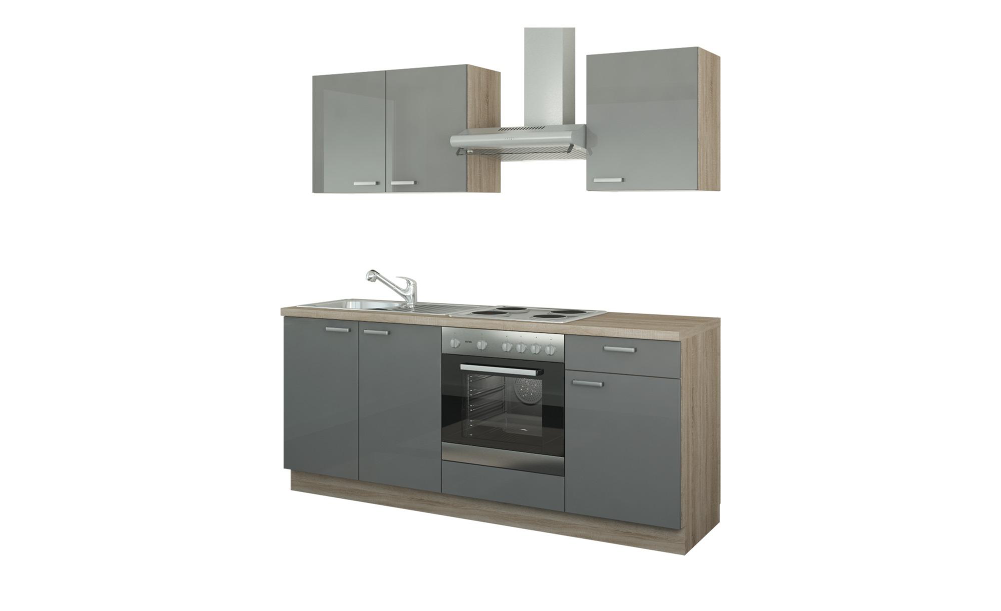 Küchenzeile mit Elektrogeräten  Ahlen ¦ Maße (cm): B: 200 Küchen > Küchenblöcke - Höffner | Küche und Esszimmer > Küchen | Möbel Höffner DE