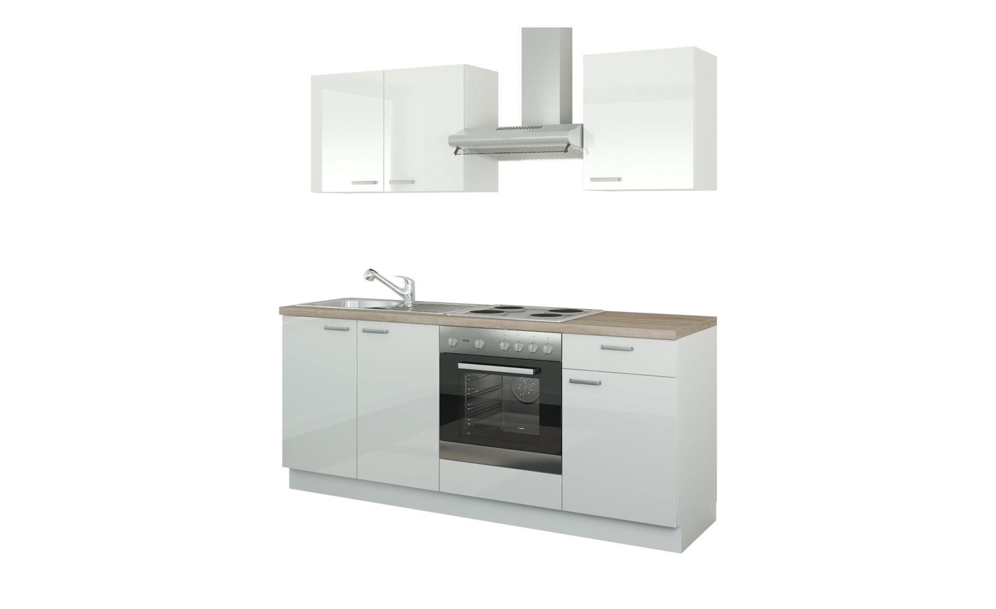 #Küchenzeile mit Elektrogeräten  Ahlen ¦ weiß ¦ Maße (cm): B: 200 Küchen > Küchenblöcke mit E-Geräten – Höffner#