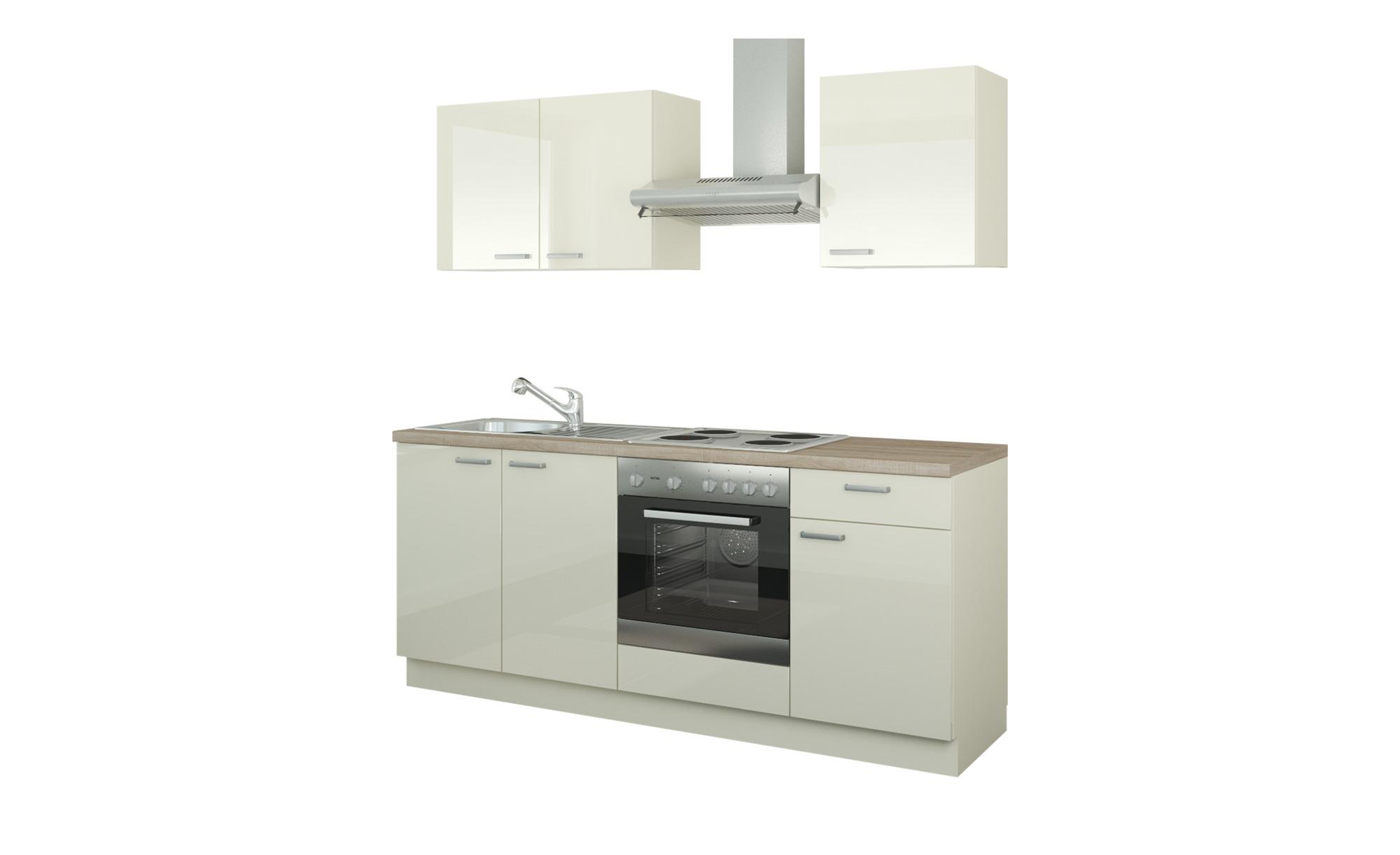 Küchenzeile mit Elektrogeräten  Ahlen ¦ creme ¦ Maße (cm): B: 200 Küchen > Küchenblöcke mit E-Geräten - Höffner