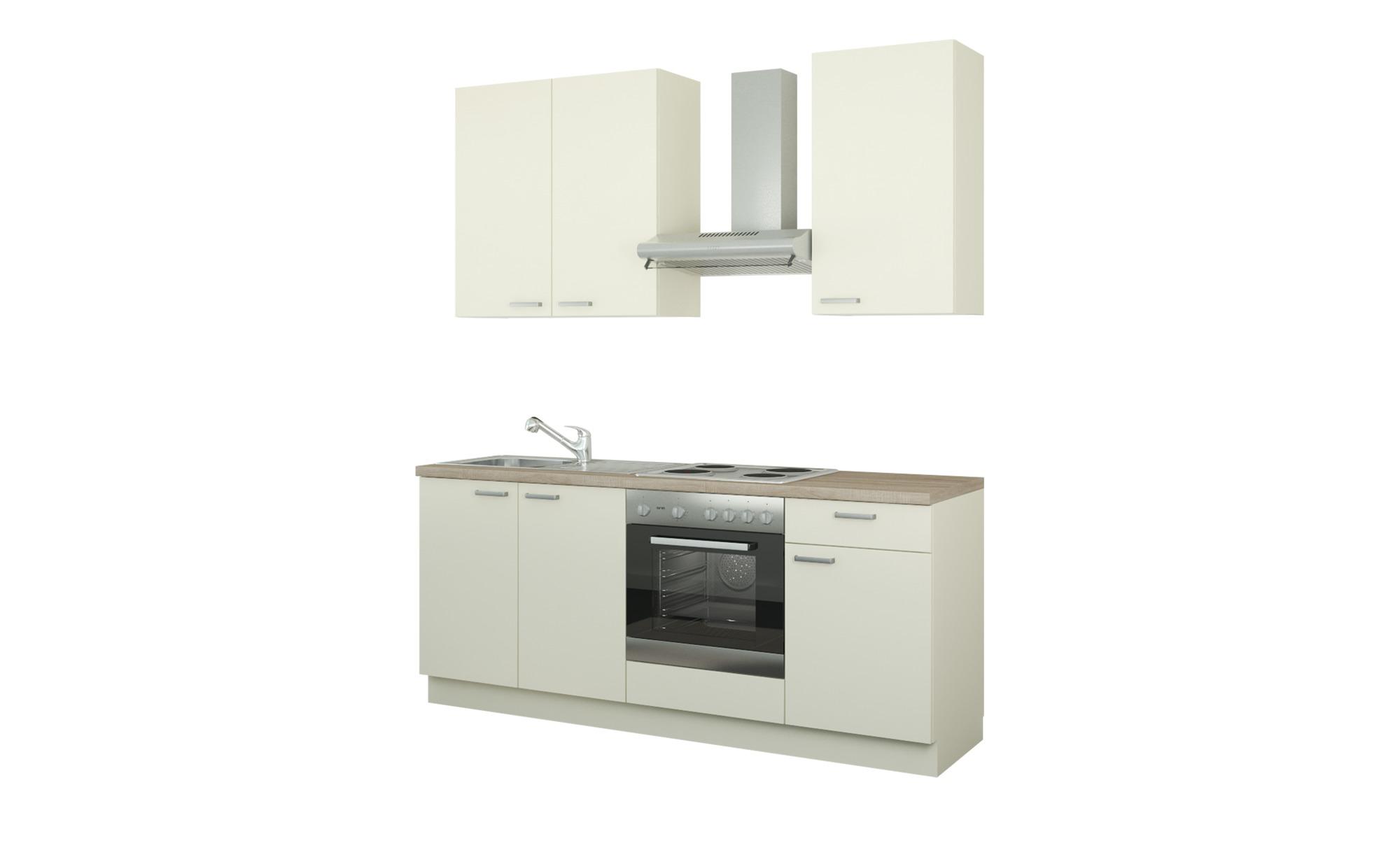 Küchenzeile mit Elektrogeräten  Bochum ¦ creme ¦ Maße (cm): B: 200 Küchen > Küchenblöcke mit E-Geräten - Höffner