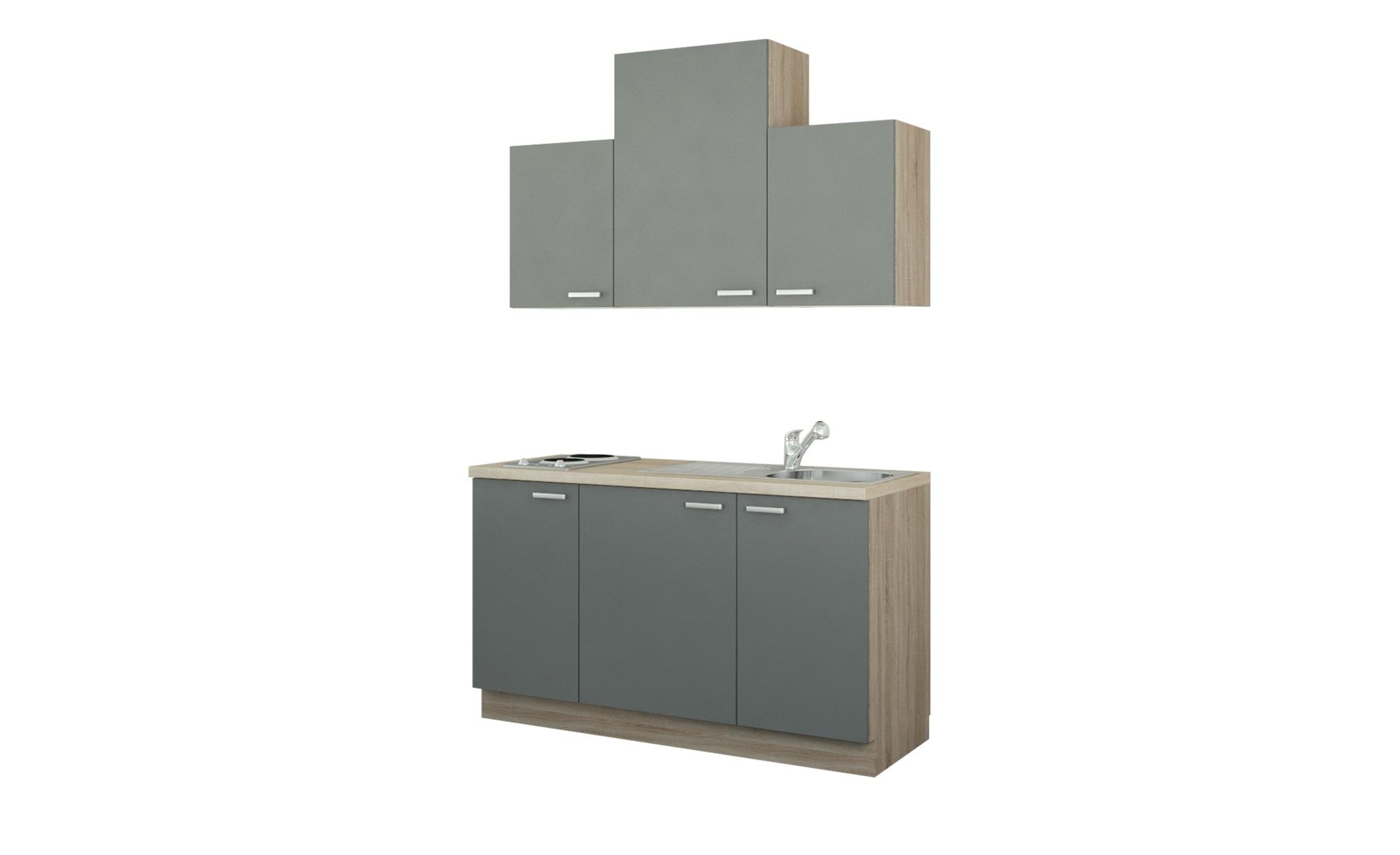 Küchenzeile mit Elektrogeräten  Aue ¦ holzfarben ¦ Maße (cm): B: 150 Küchen > Küchenblöcke mit E-Geräten - Höffner