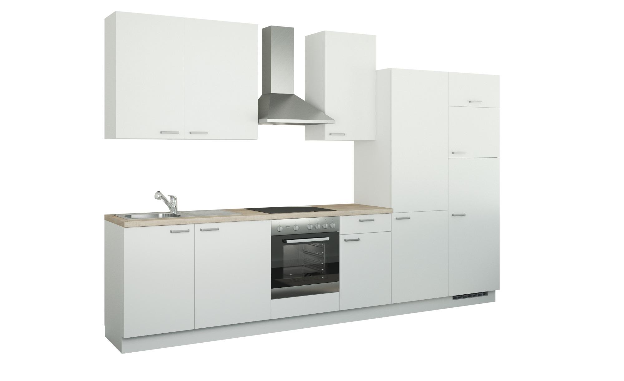 Küchenzeile mit Elektrogeräten  Duisburg ¦ weiß ¦ Maße (cm): B: 340 Küchen > Küchenblöcke mit E-Geräten - Höffner | Küche und Esszimmer > Küchen | Möbel Höffner DE