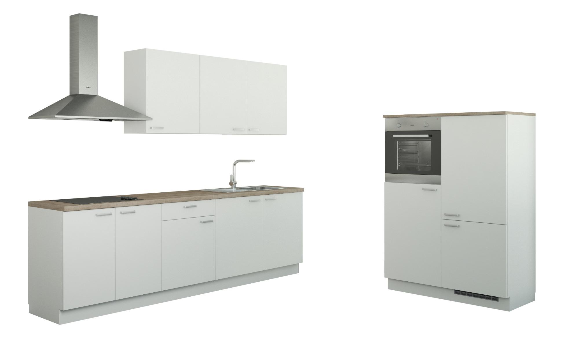 Küchenzeile mit Elektrogeräten   Gotha ¦ weiß Küchen > Küchenblöcke - Höffner | Küche und Esszimmer > Küchen > Küchenzeilen | Weiß | Holzwerkstoff | Möbel Höffner DE