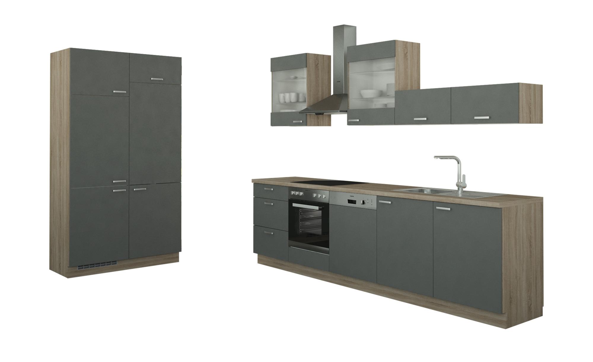 Küchenzeile Ohne Elektrogeräte Potsdam Anthrazit Bergeiche