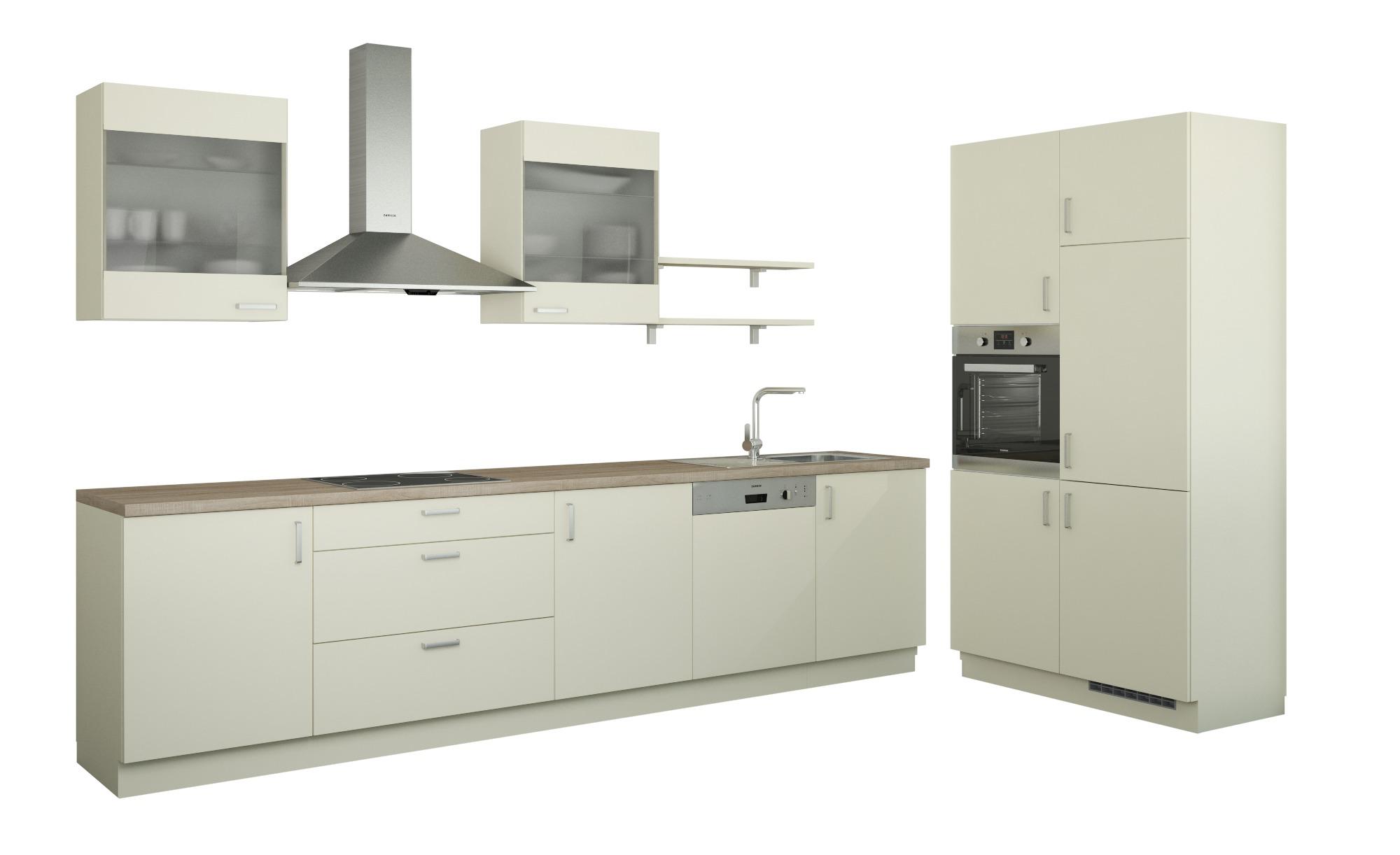 Küchenzeile Ohne Elektrogeräte Frankfurt Magnolia Creme