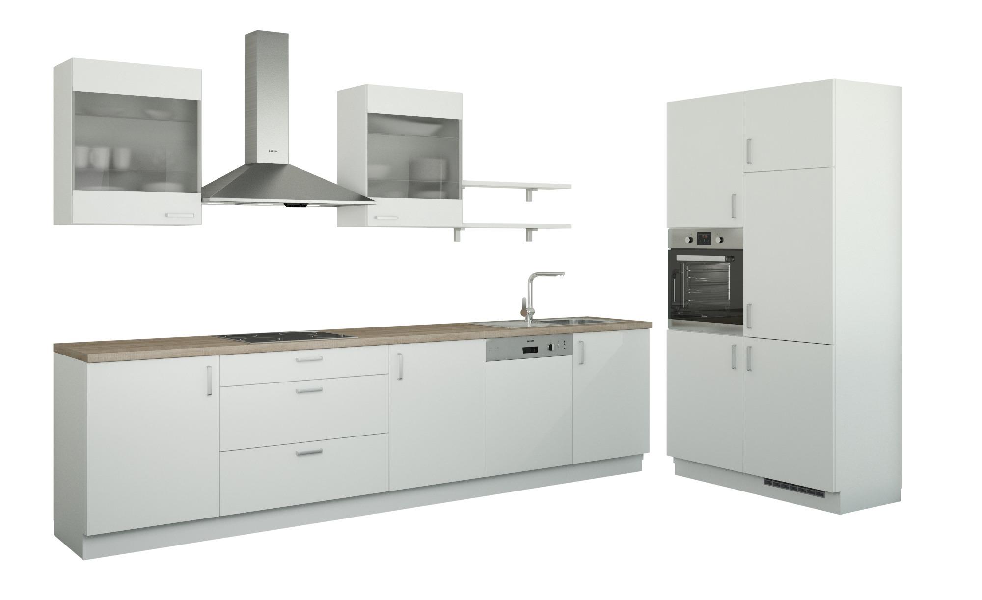 Küchenzeile ohne Elektrogeräte  Frankfurt ¦ weiß Küchen > Küchenblöcke ohne E-Geräte - Höffner | Küche und Esszimmer > Küchen | Möbel Höffner DE