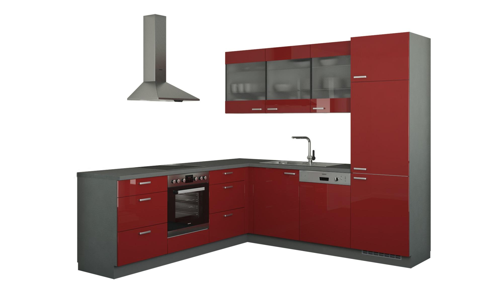 Winkelküche ohne Elektrogeräte  Sylt ¦ rot Küchen > Küchenblöcke - Höffner