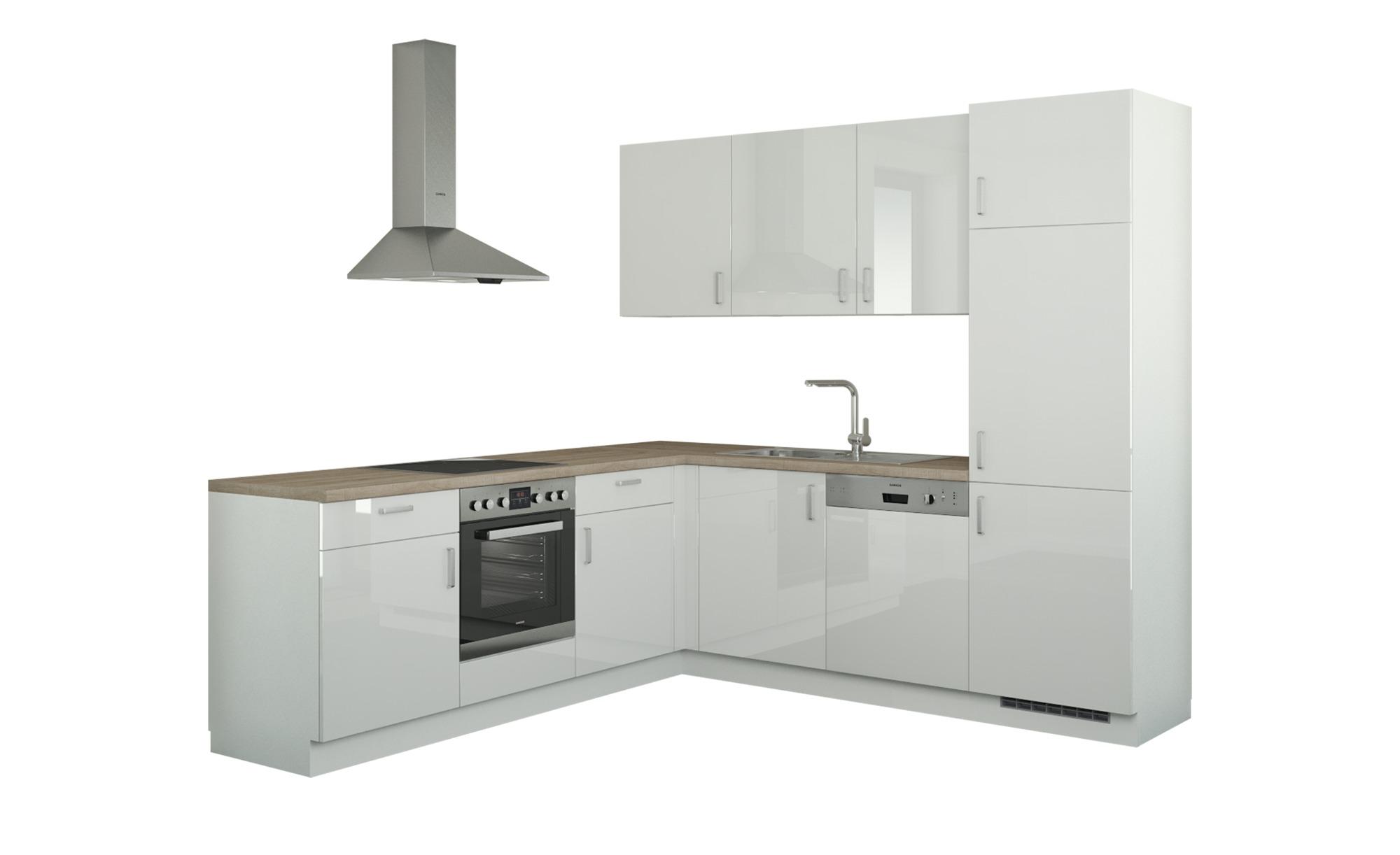 Winkelküche ohne Elektrogeräte  Stuttgart ¦ weiß Küchen > Küchenblöcke - Höffner | Küche und Esszimmer > Küchen | Weiß | Holzwerkstoff | Möbel Höffner DE
