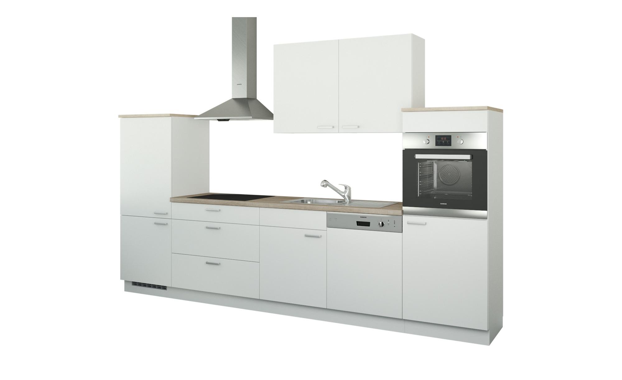 Küchenzeile ohne Elektrogeräte  Neuss ¦ weiß ¦ Maße (cm): B: 330 Küchen > Küchenblöcke ohne E-Geräte - Höffner