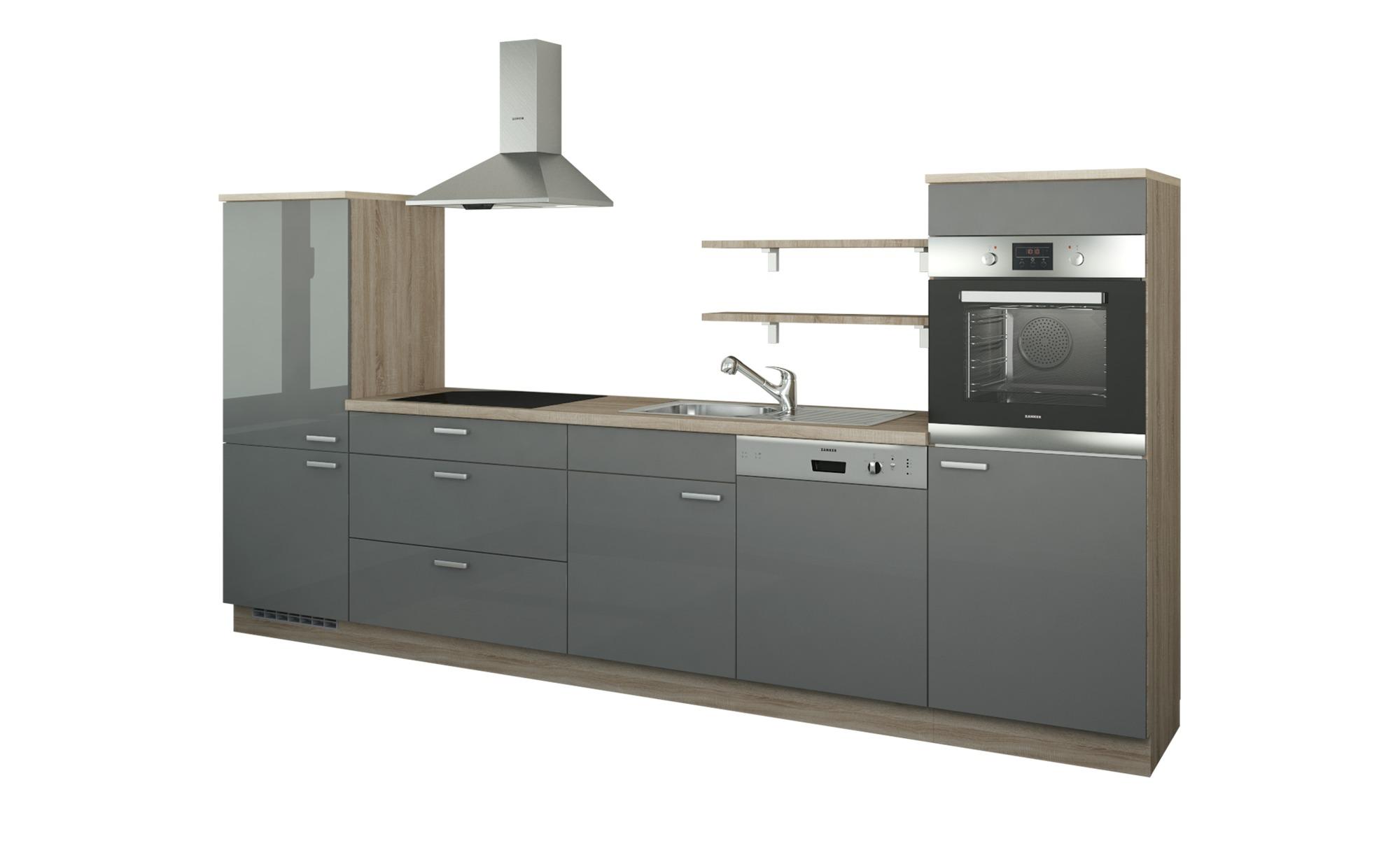 Küchenzeile Ohne Elektrogeräte Kassel Anthrazit Bergeiche