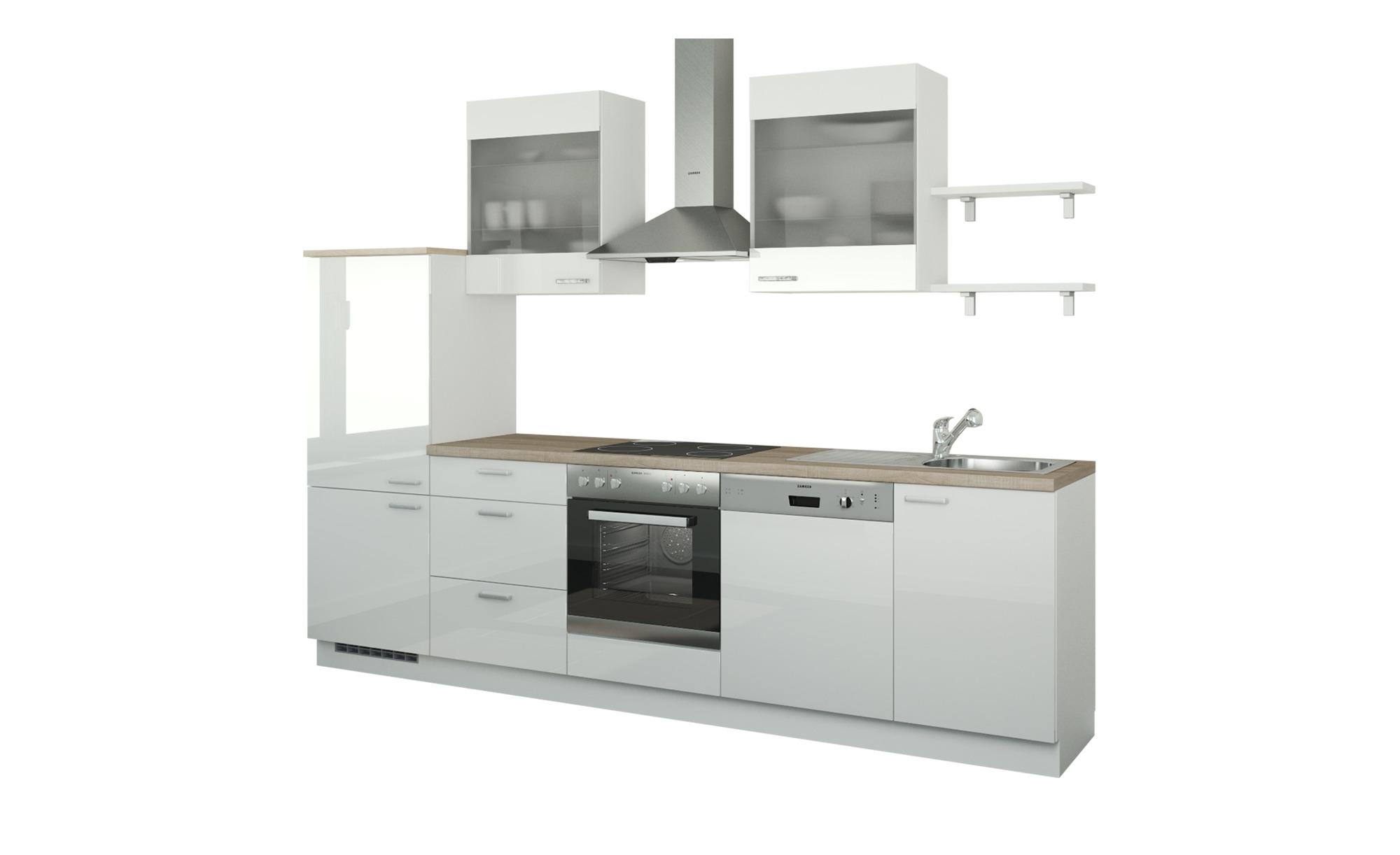 Küchenzeile ohne Elektrogeräte  Hamburg ¦ weiß ¦ Maße (cm): B: 290 Küchen > Küchenblöcke ohne E-Geräte - Höffner